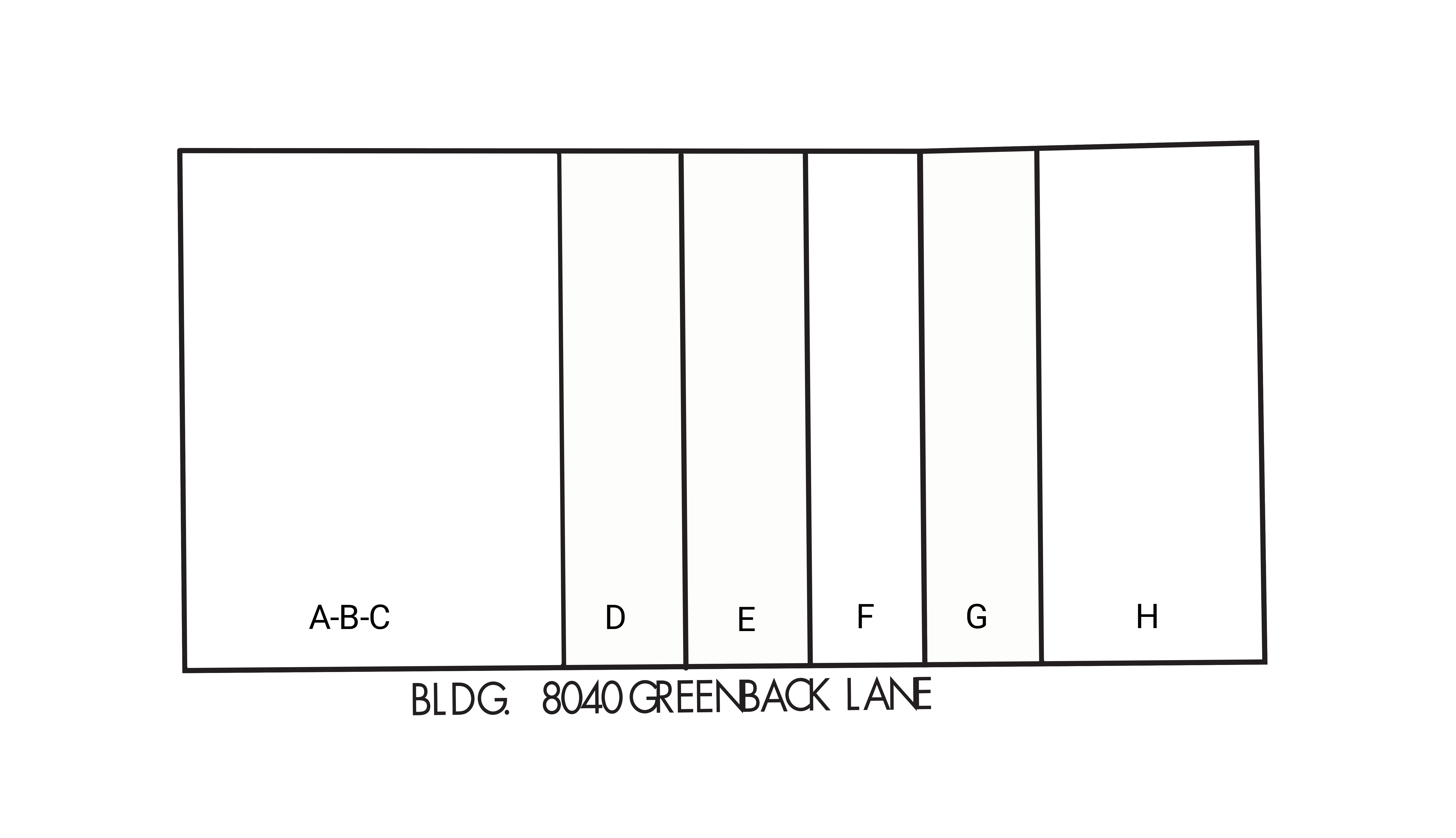 8040 Greenback Lane: site plan