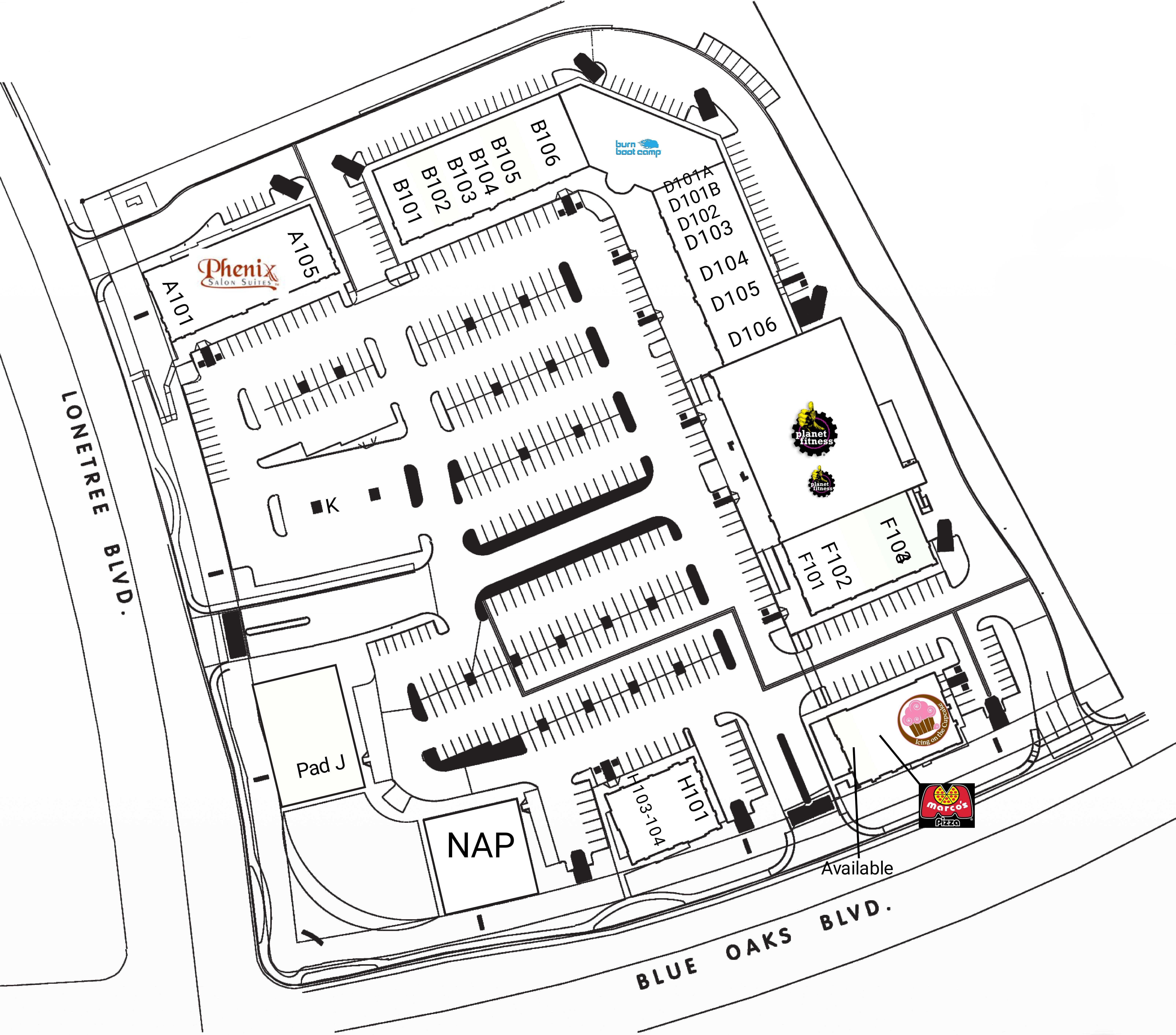 Rocklin West: site plan