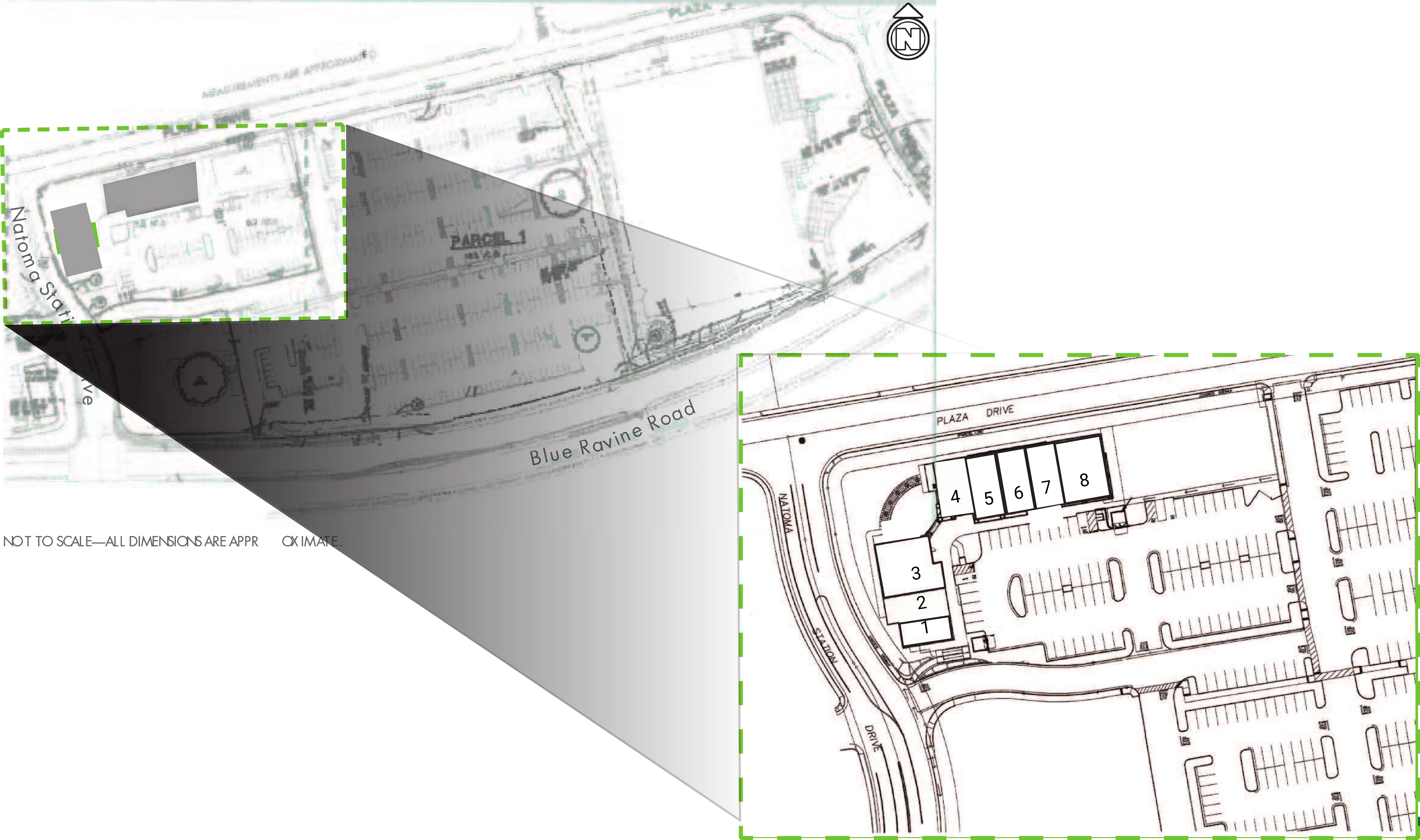 Blue Ravine Strip Center: site plan