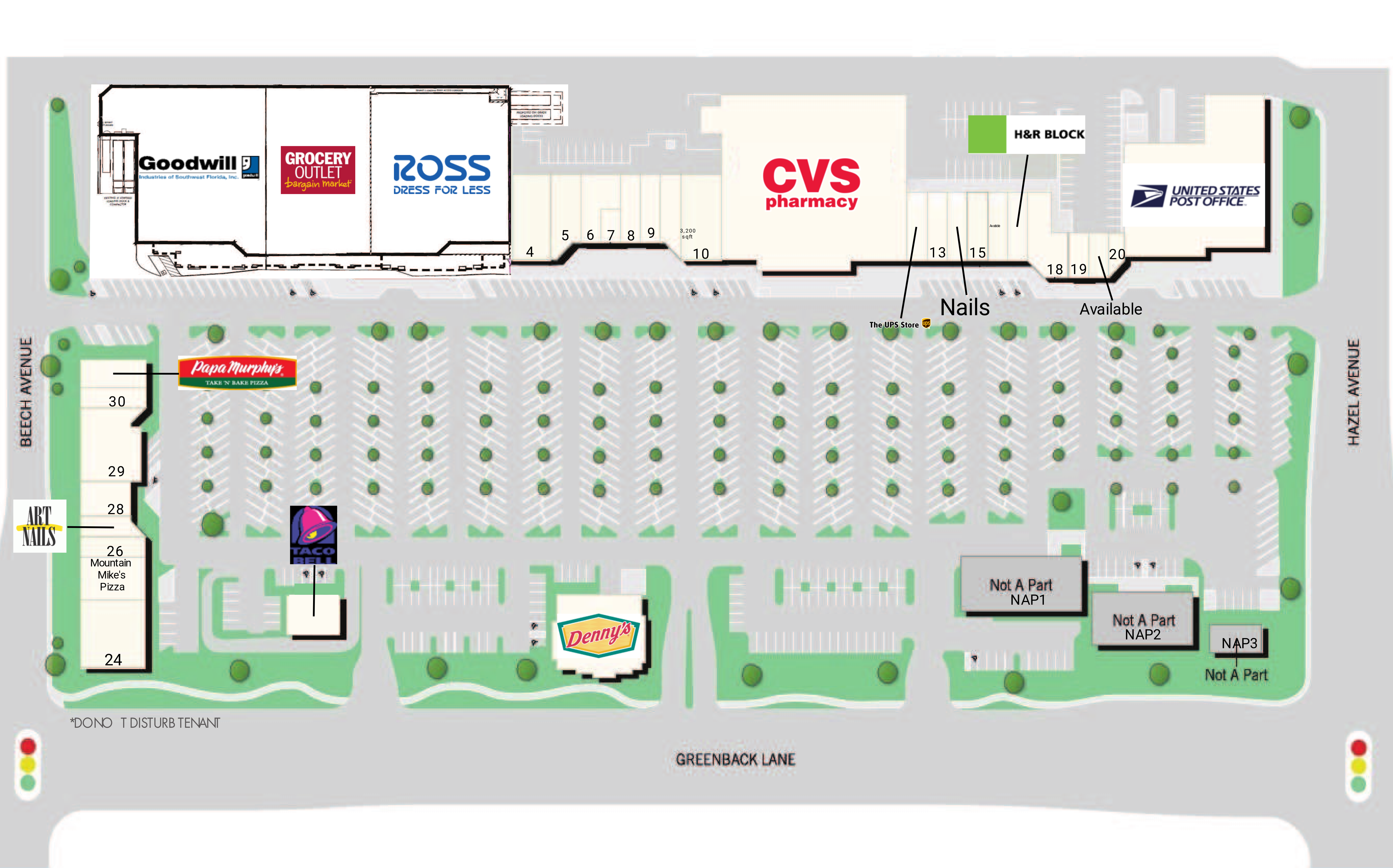Cable Park Shopping Center: site plan