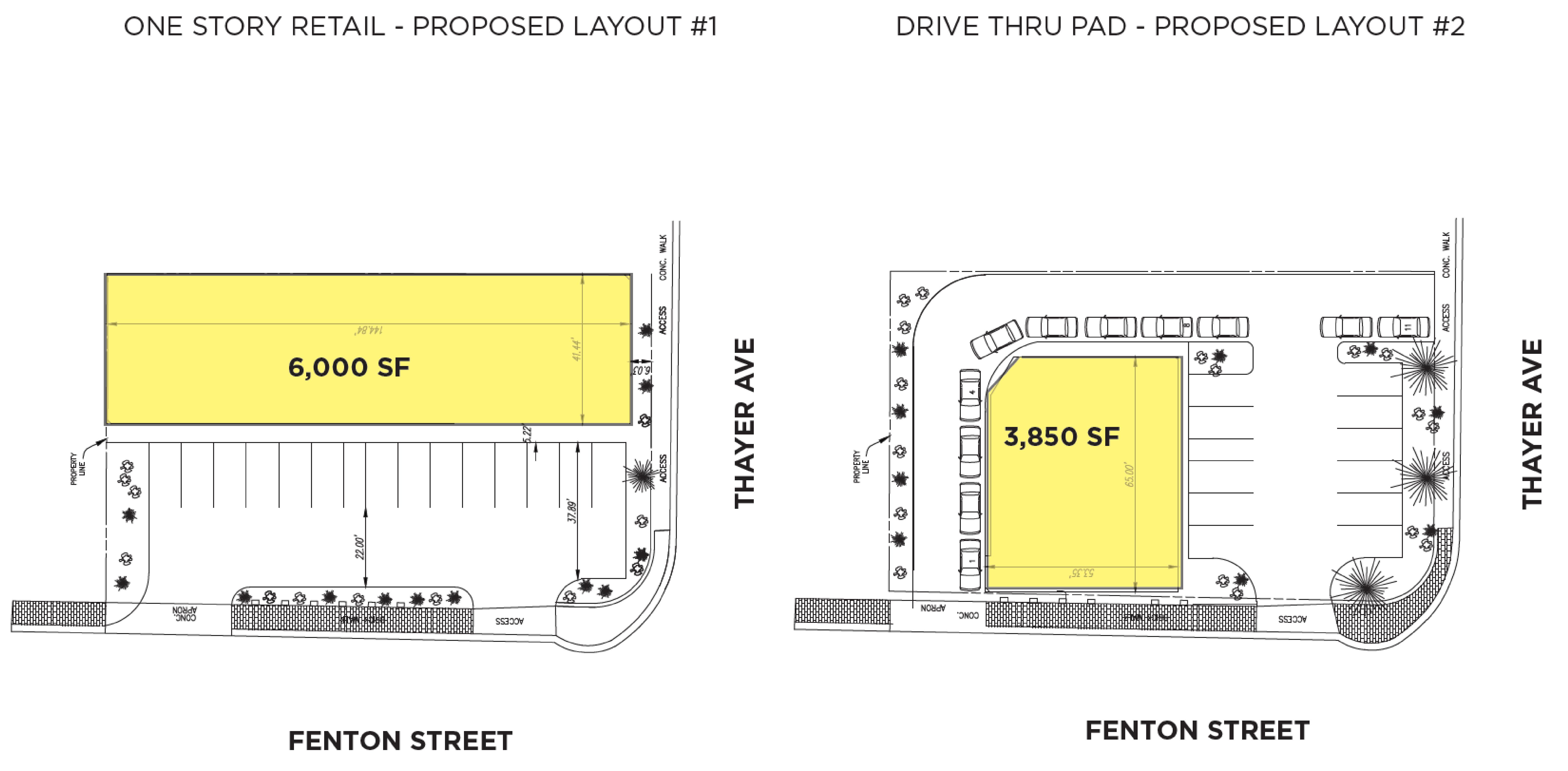 8301 Fenton Street: site plan