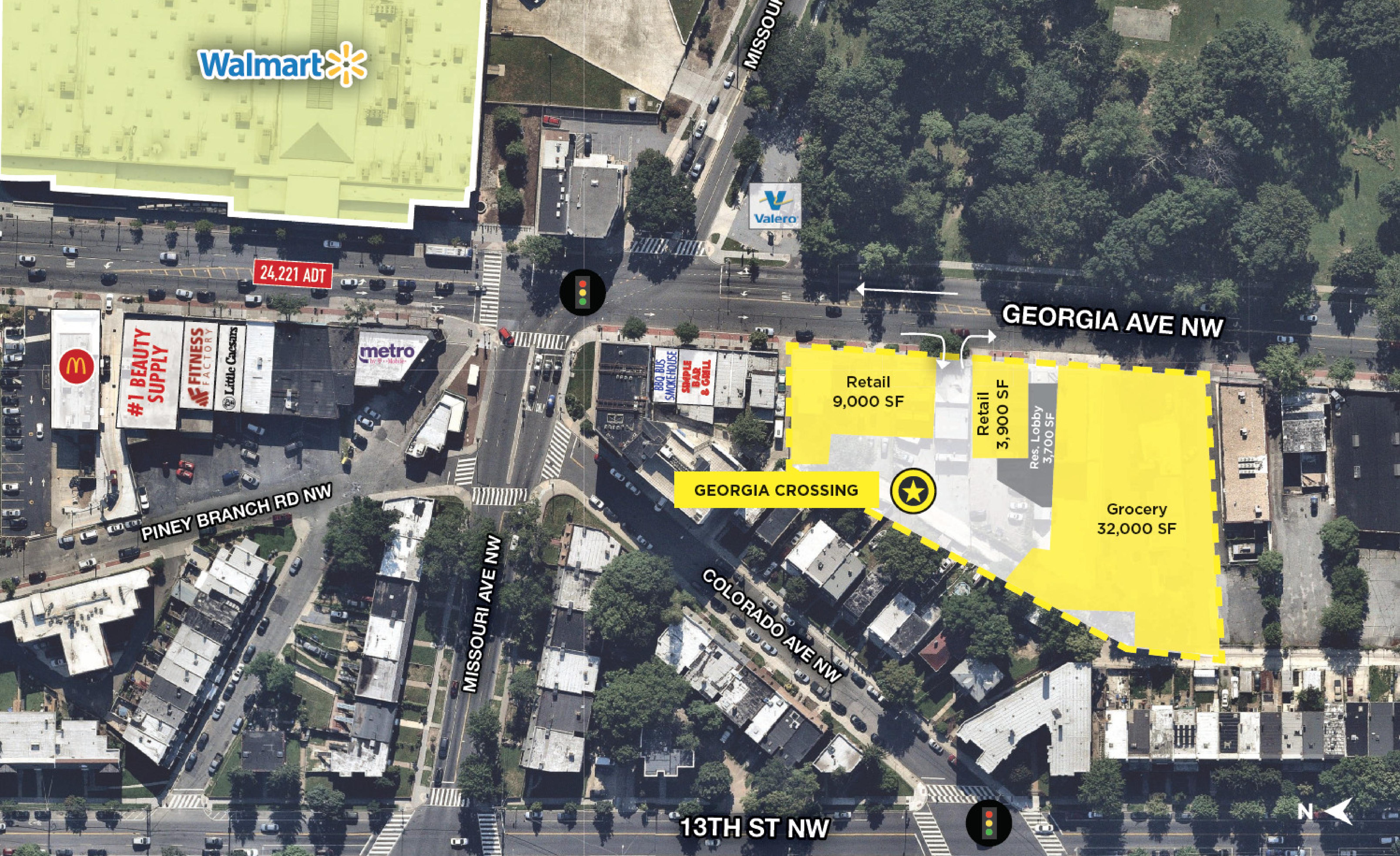 Georgia Crossing: site plan