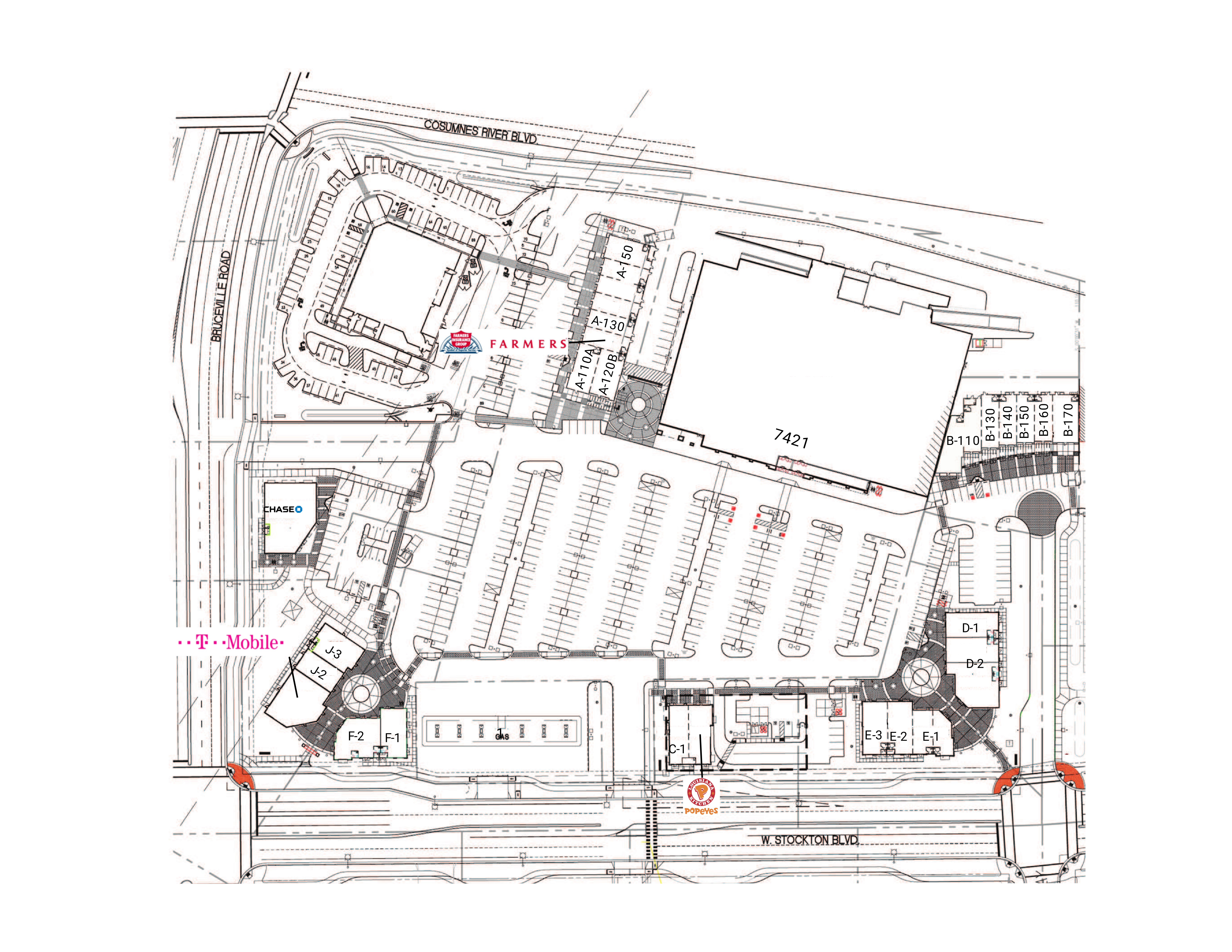 College Square (the Shops at): site plan