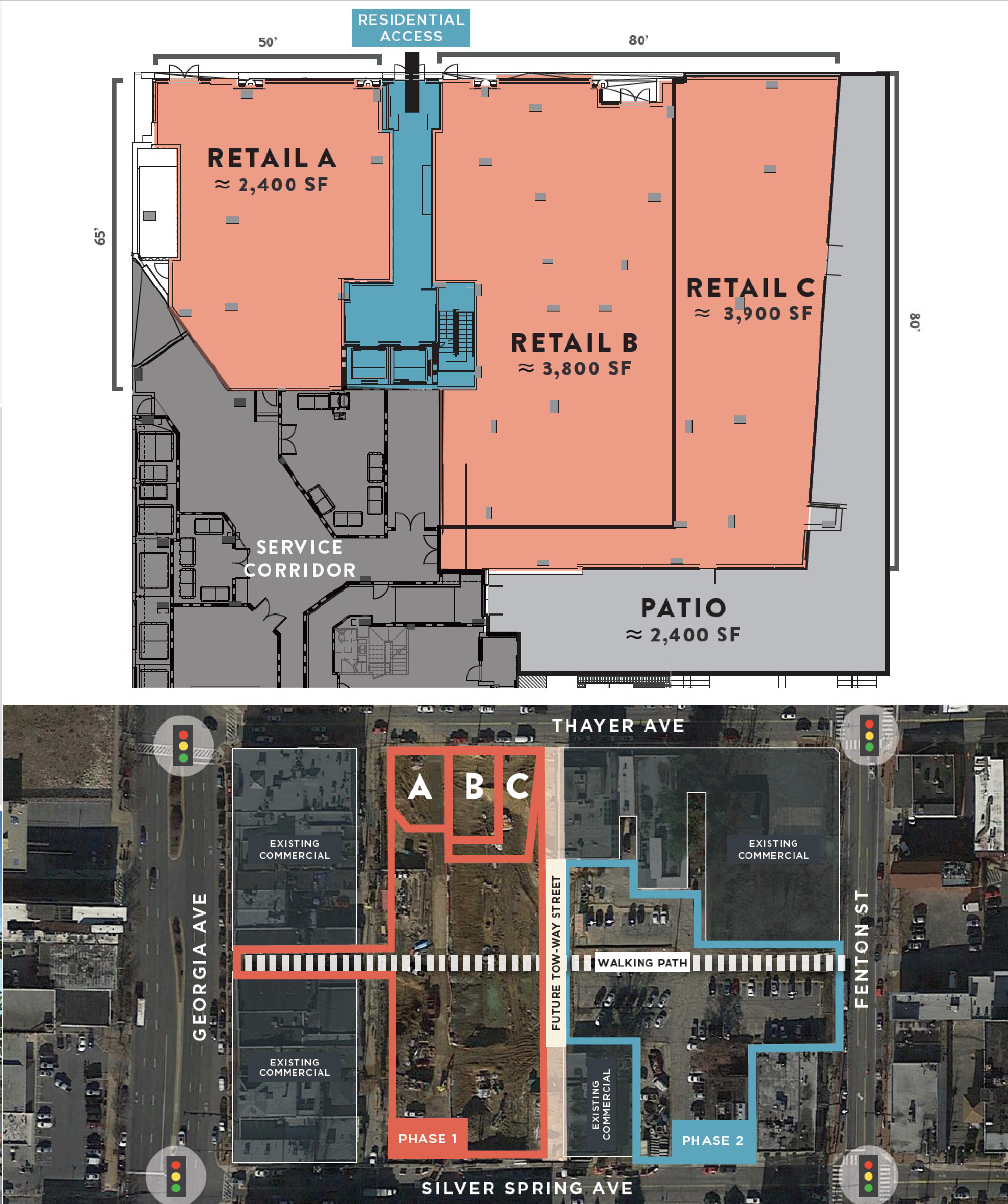 Thayer & Spring: site plan