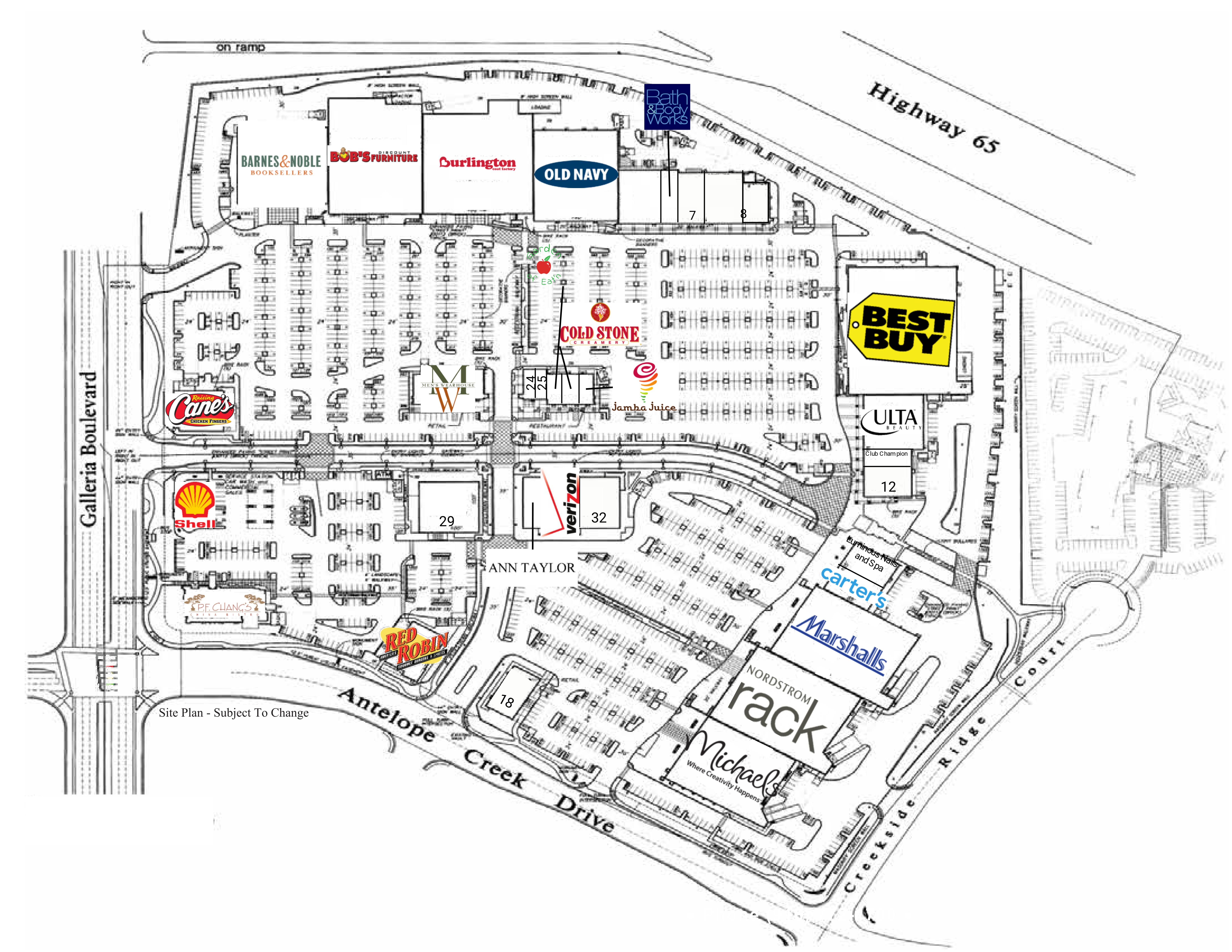 Creekside Town Center: site plan