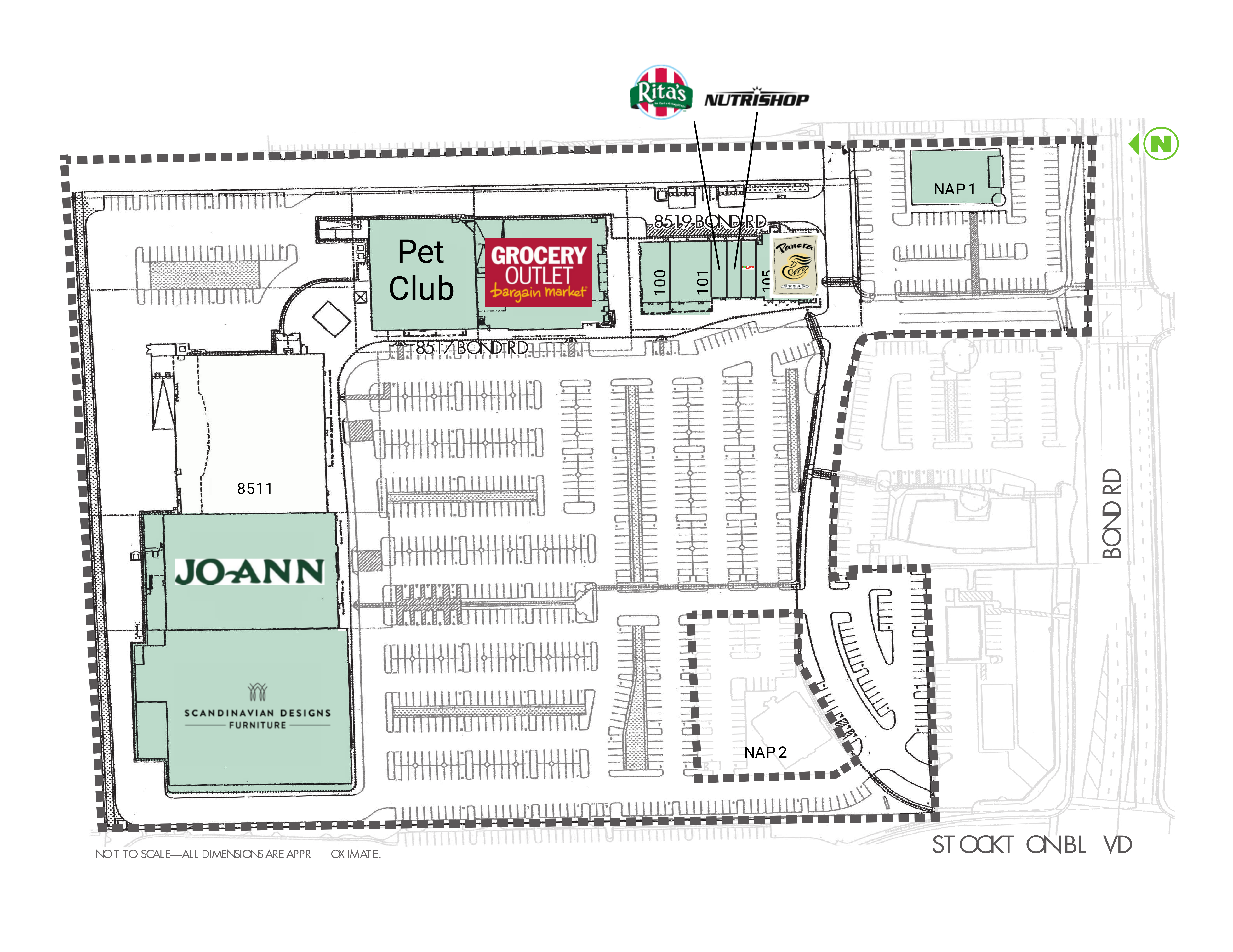 Elk Grove Marketplace: site plan