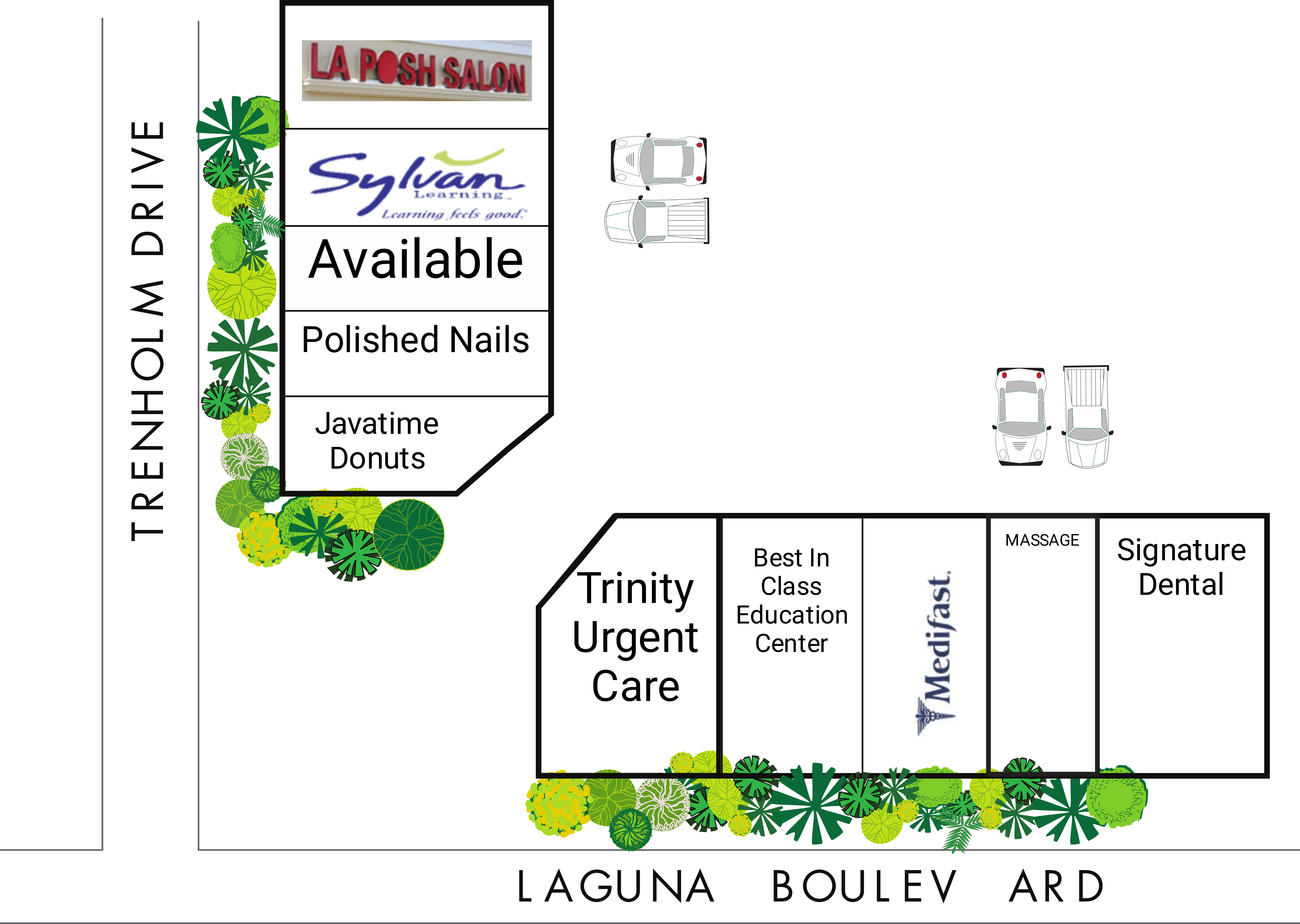Laguna Trenholm Plaza: site plan