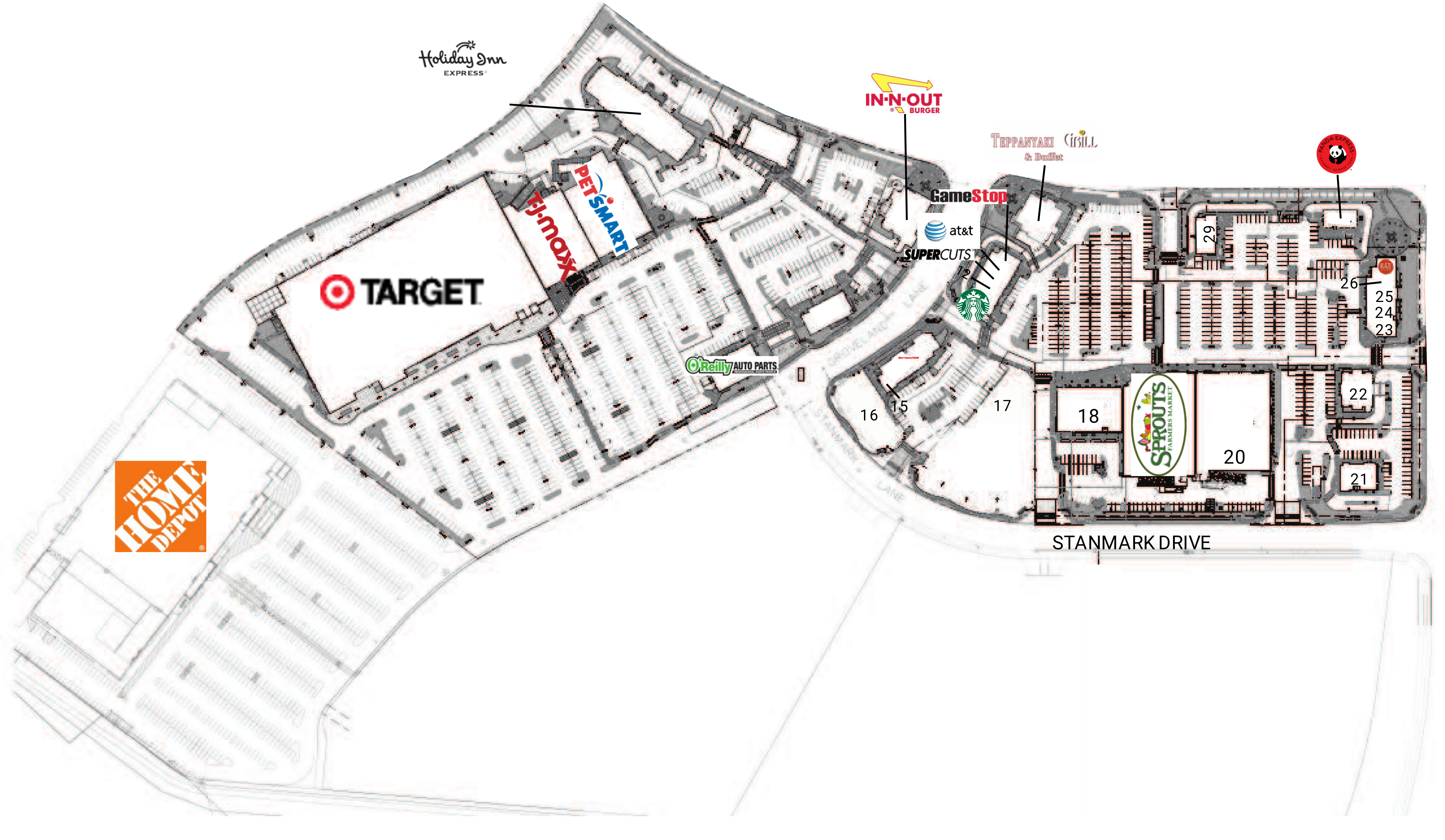 Lincoln Crossing: site plan