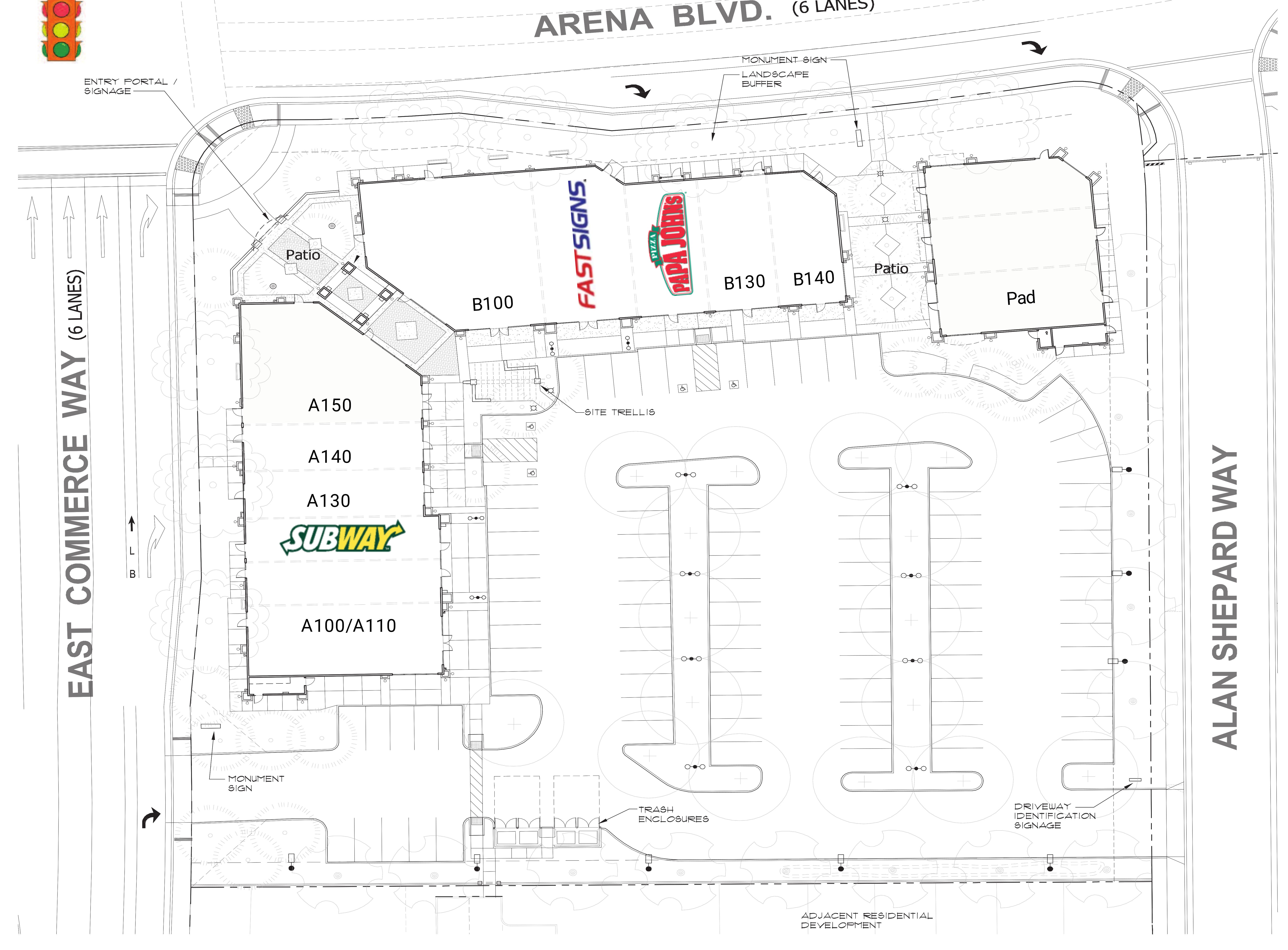 Natomas Landing: site plan