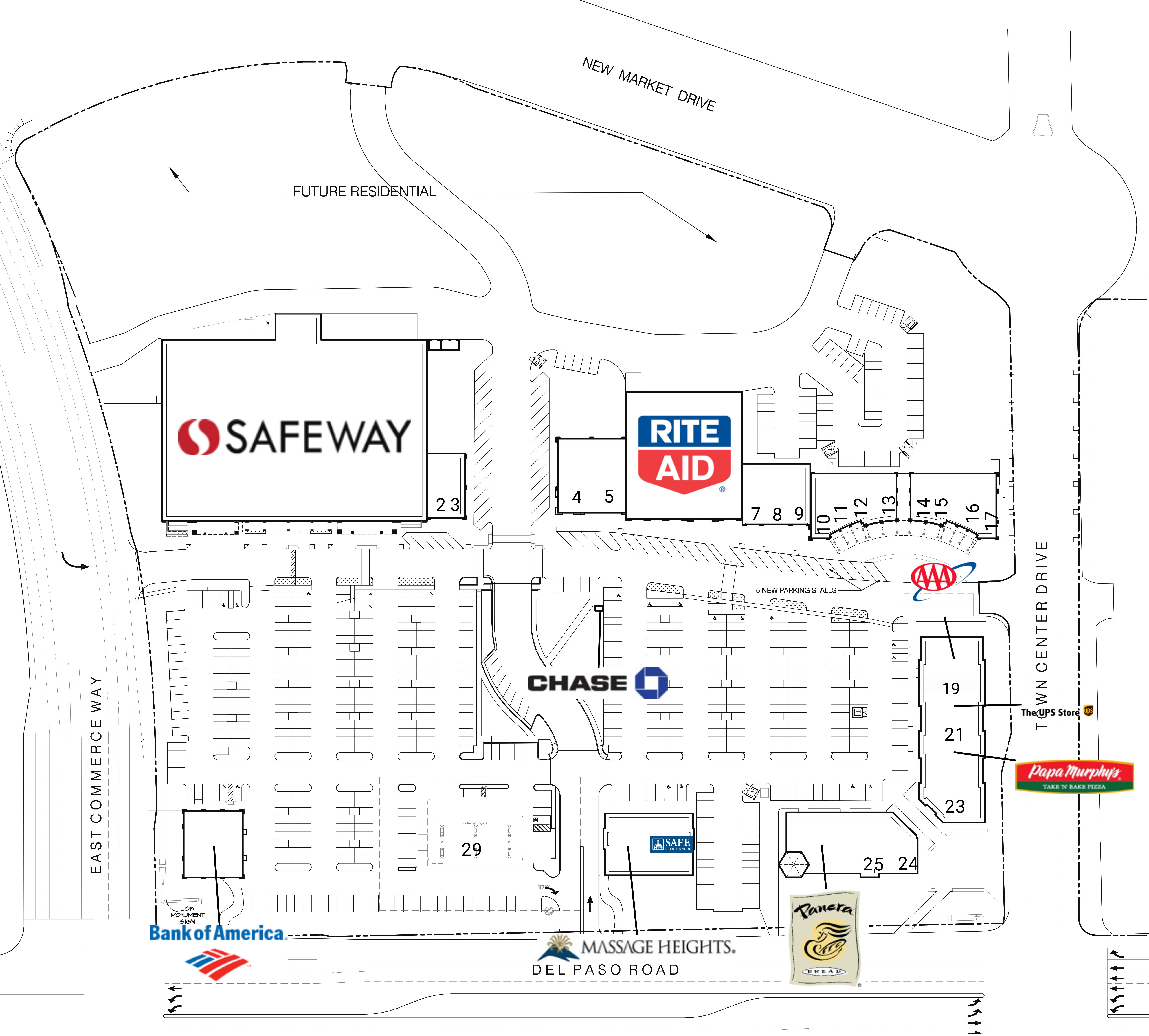 Natomas Town Center: site plan