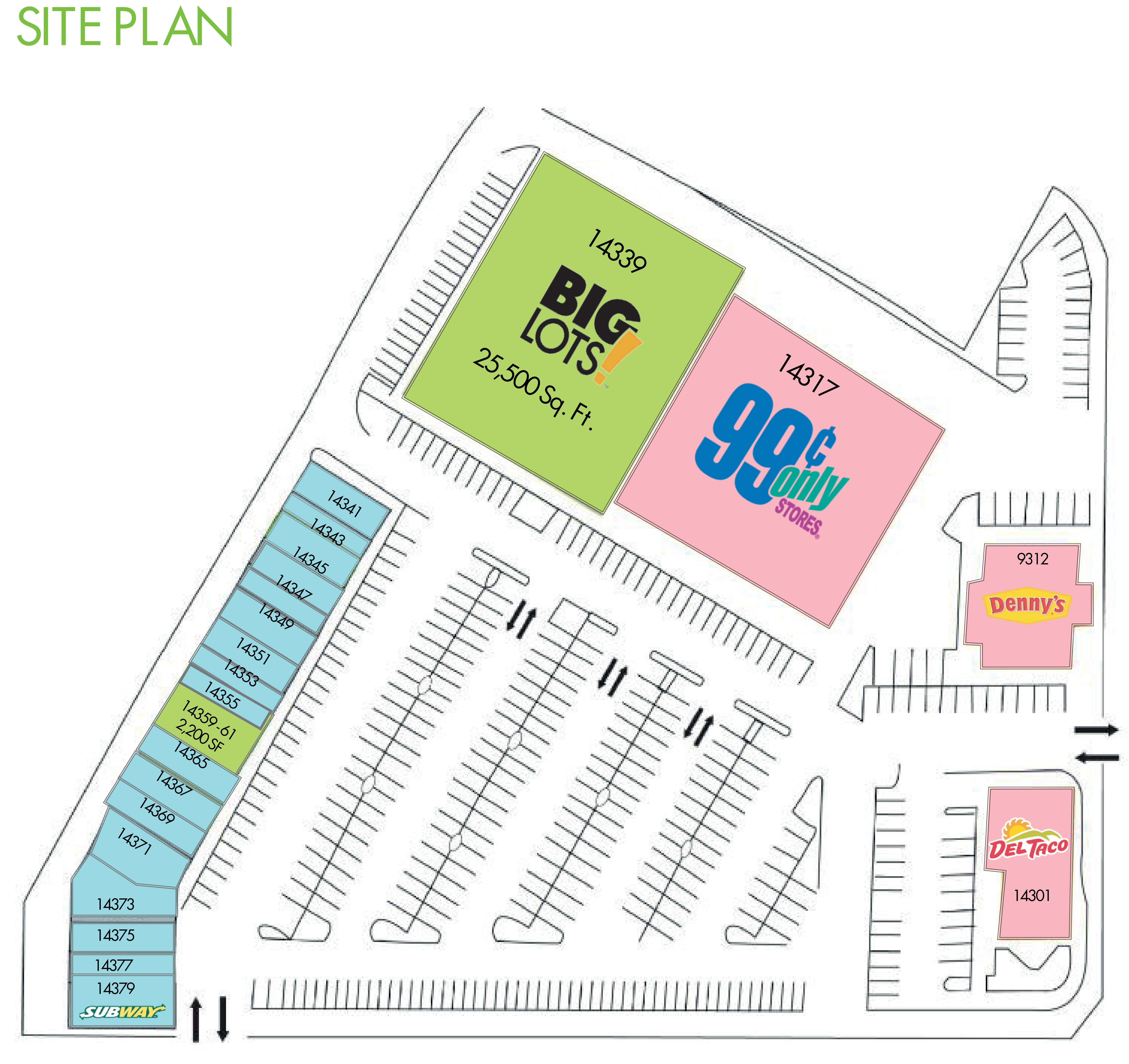 Bellflower Shopping Center: site plan