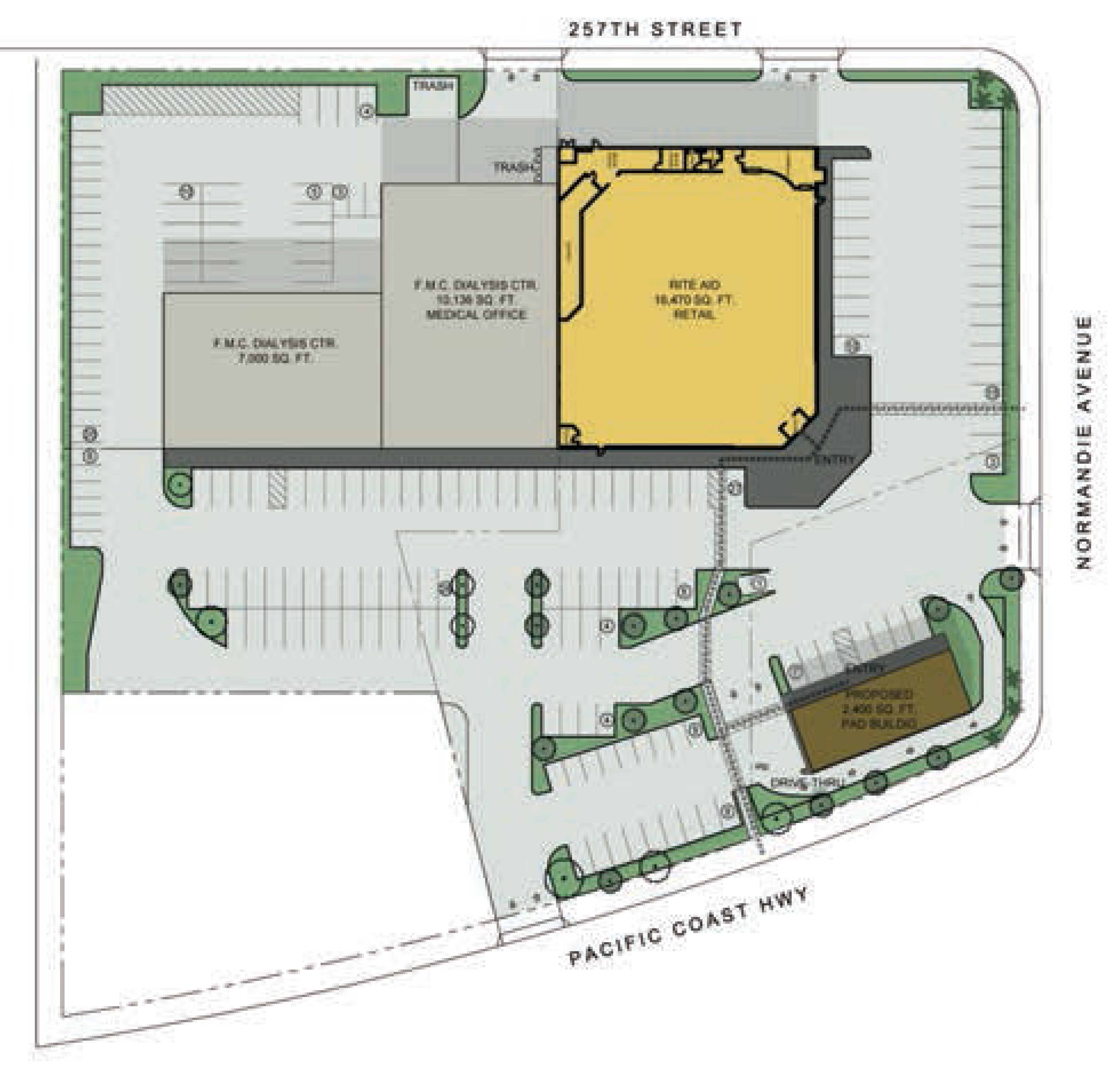 NWC PCH + Normandie: site plan