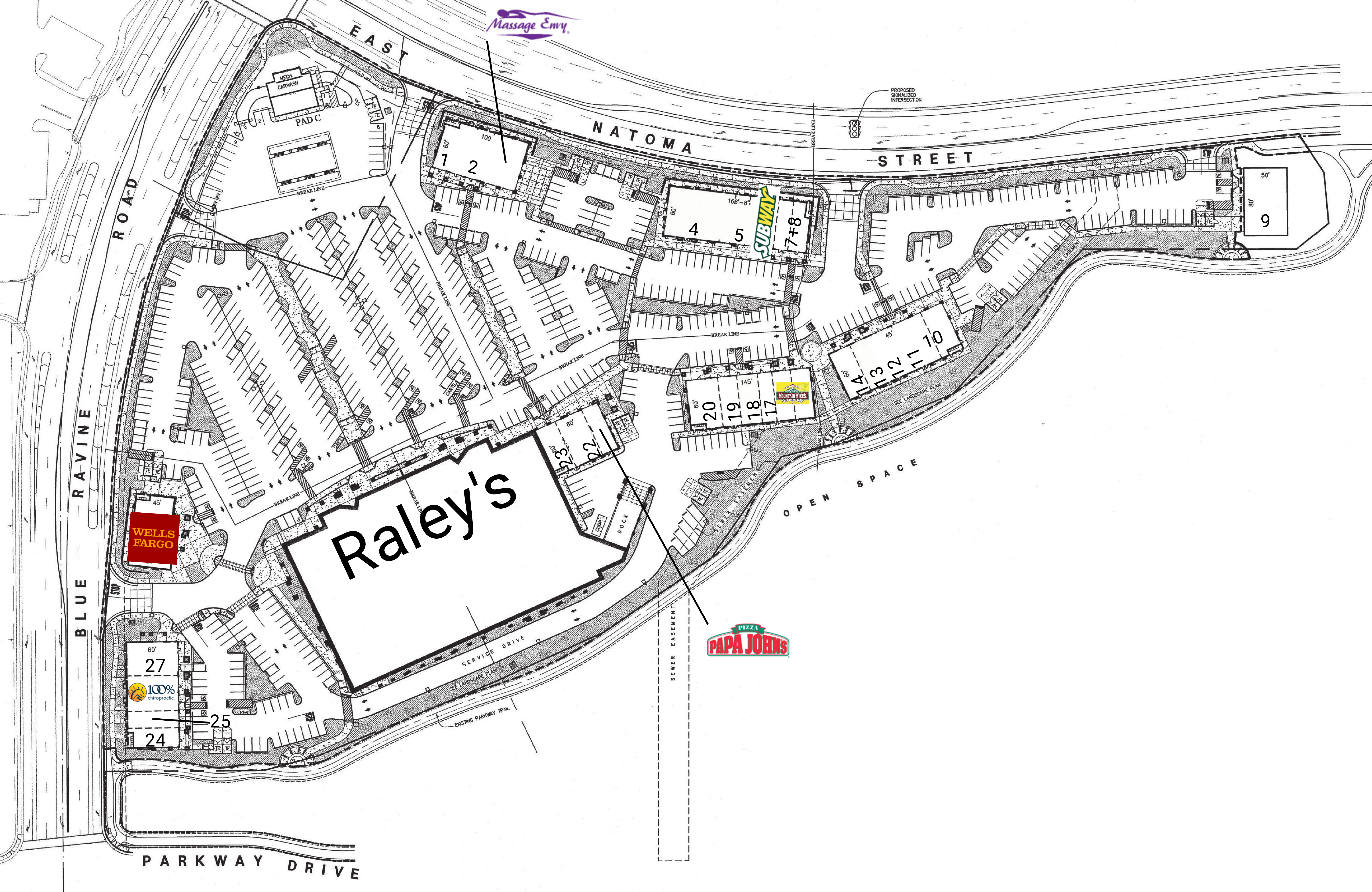 Raley's At The Parkway: site plan