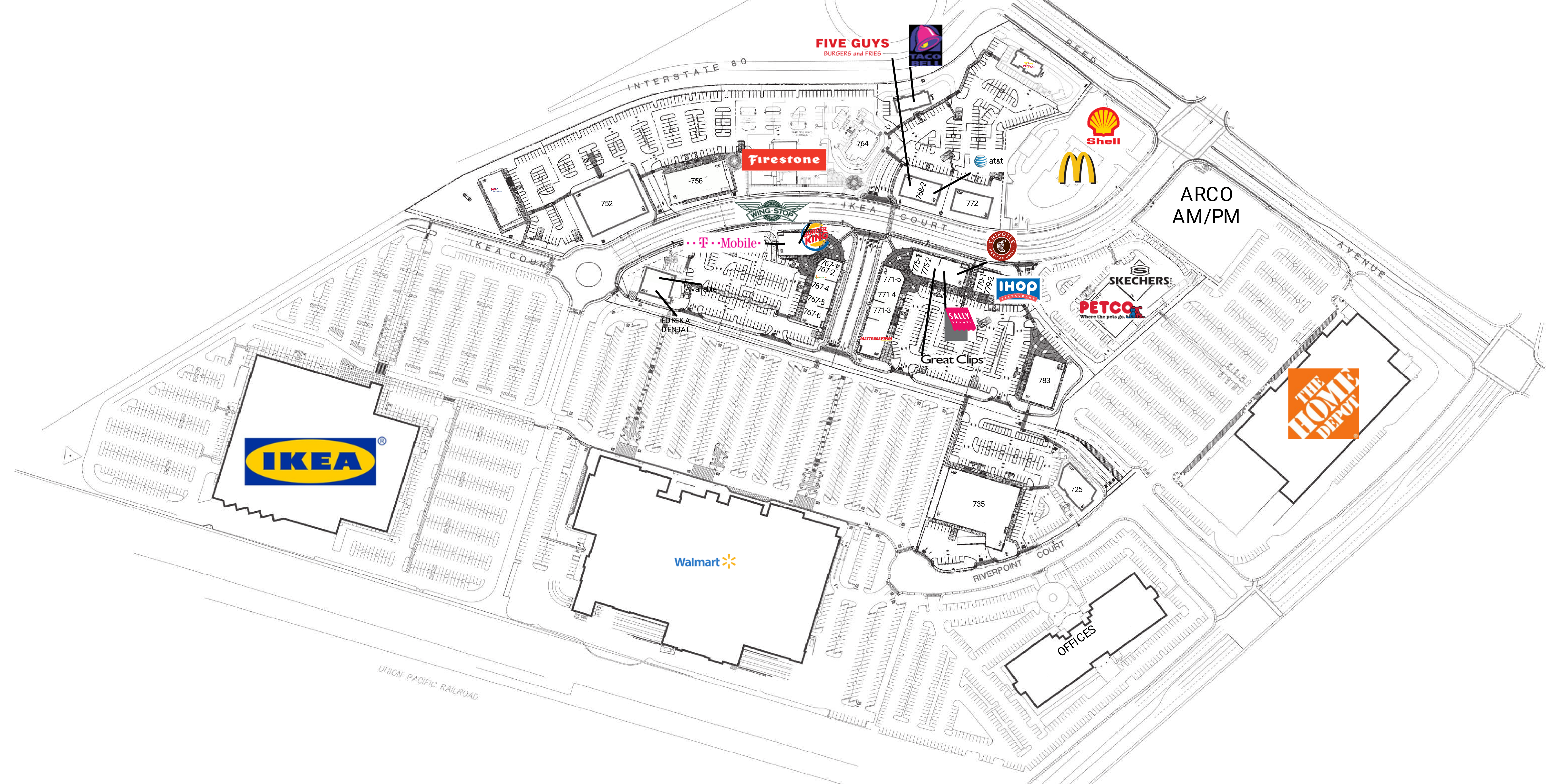 Riverpoint Marketplace: site plan