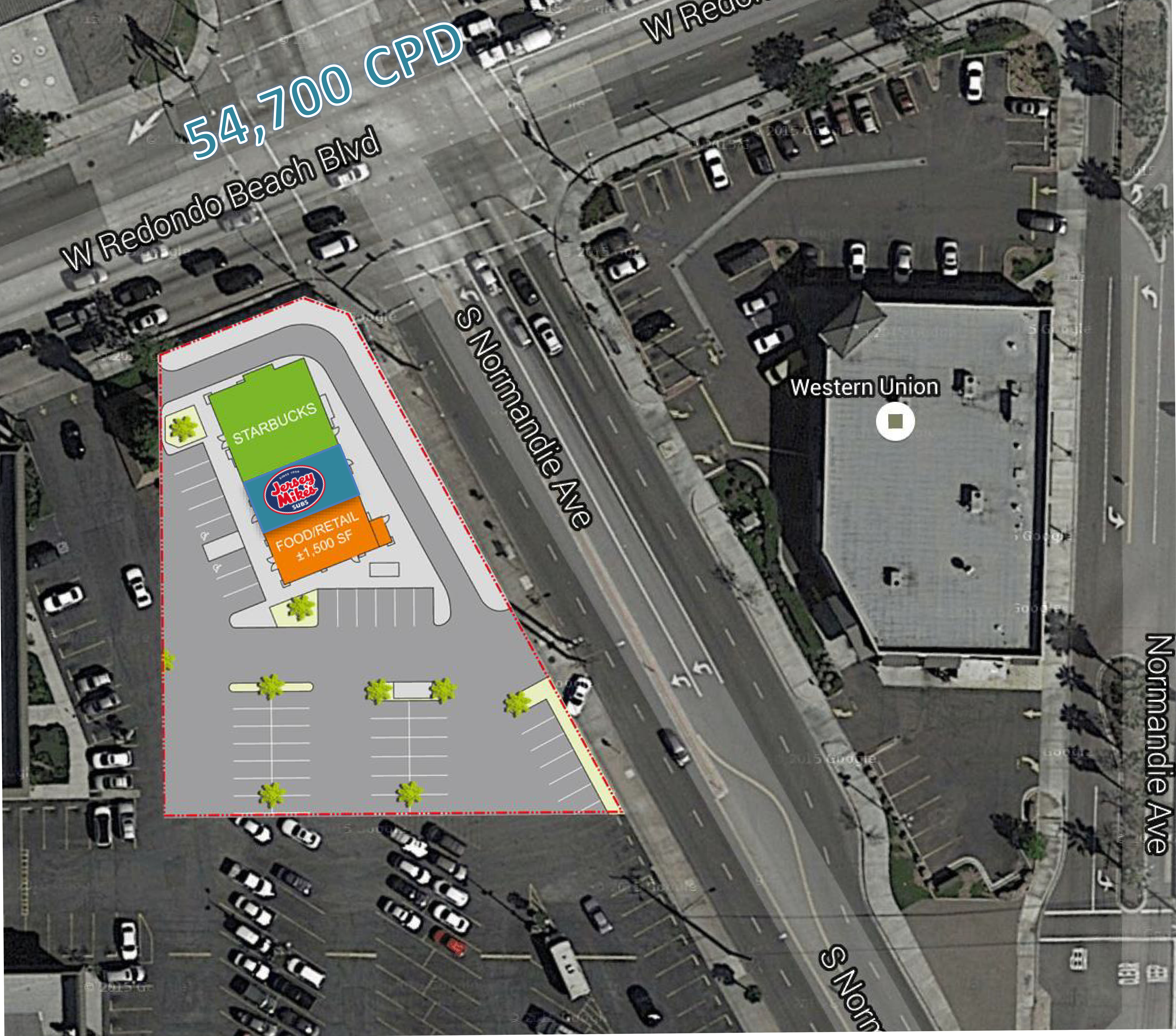 SWC Redondo Beach Blvd & Normandie: site plan