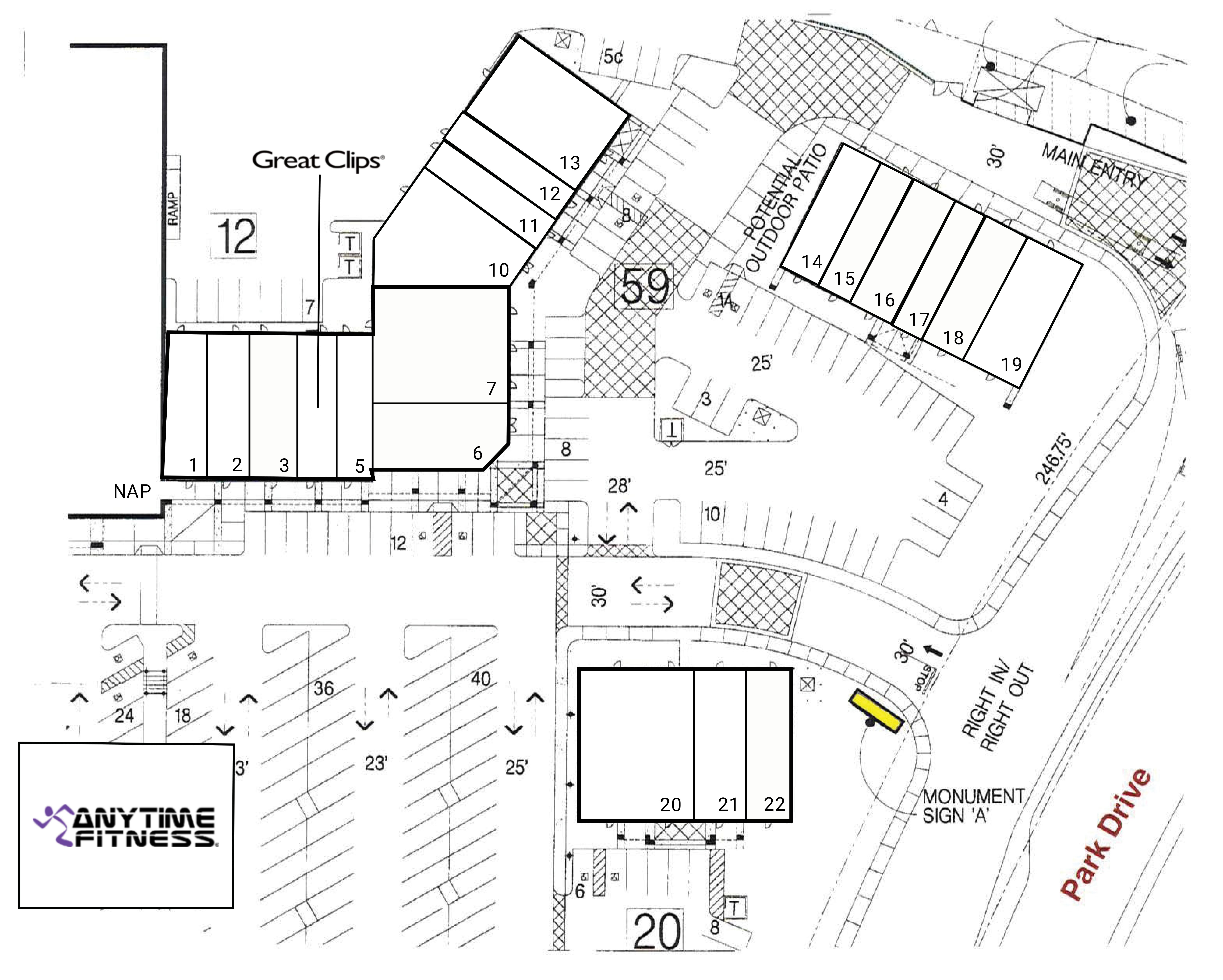 Stanford Ranch Plaza: site plan