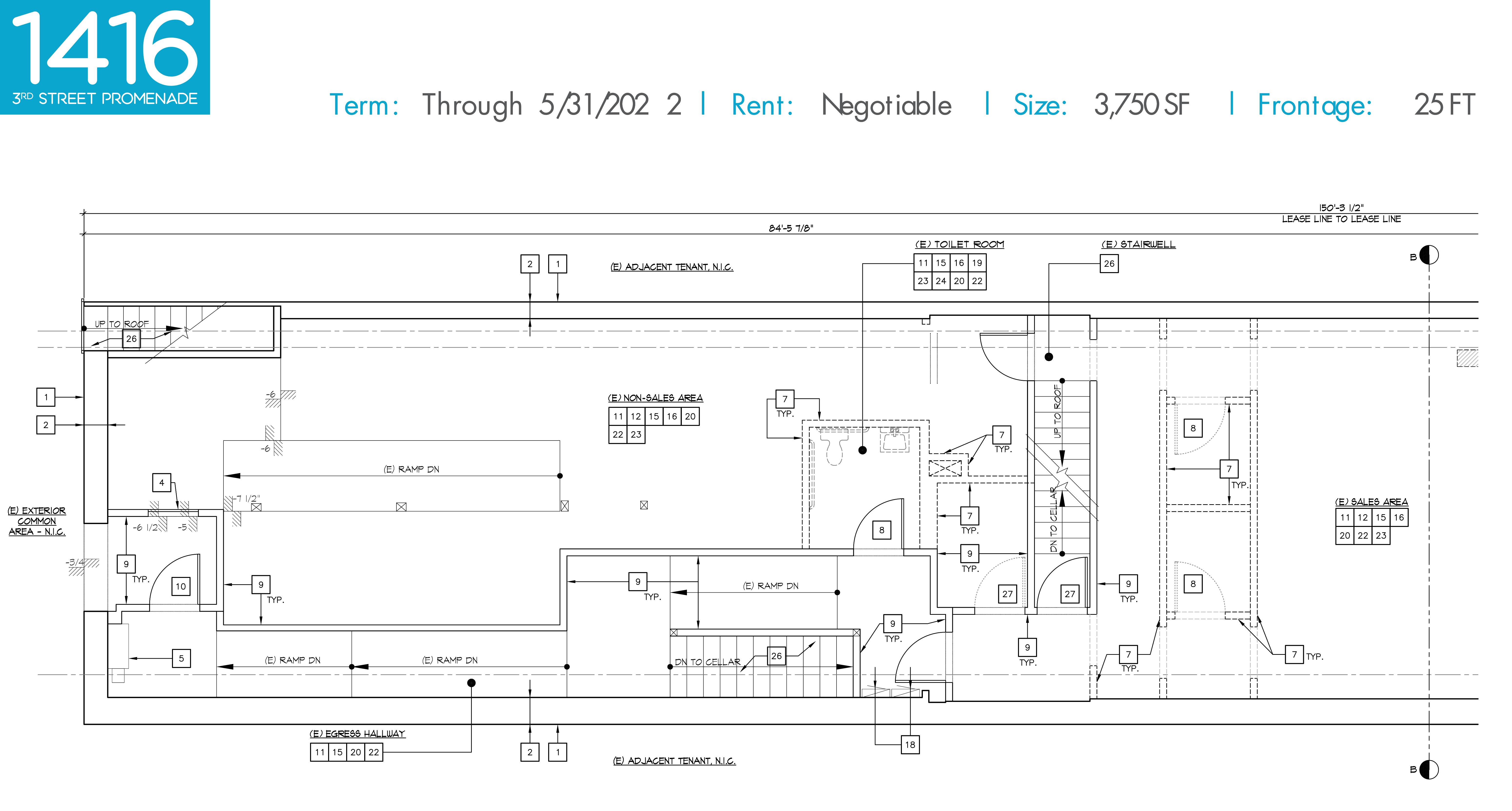 1416 3rd Street Promenade: site plan