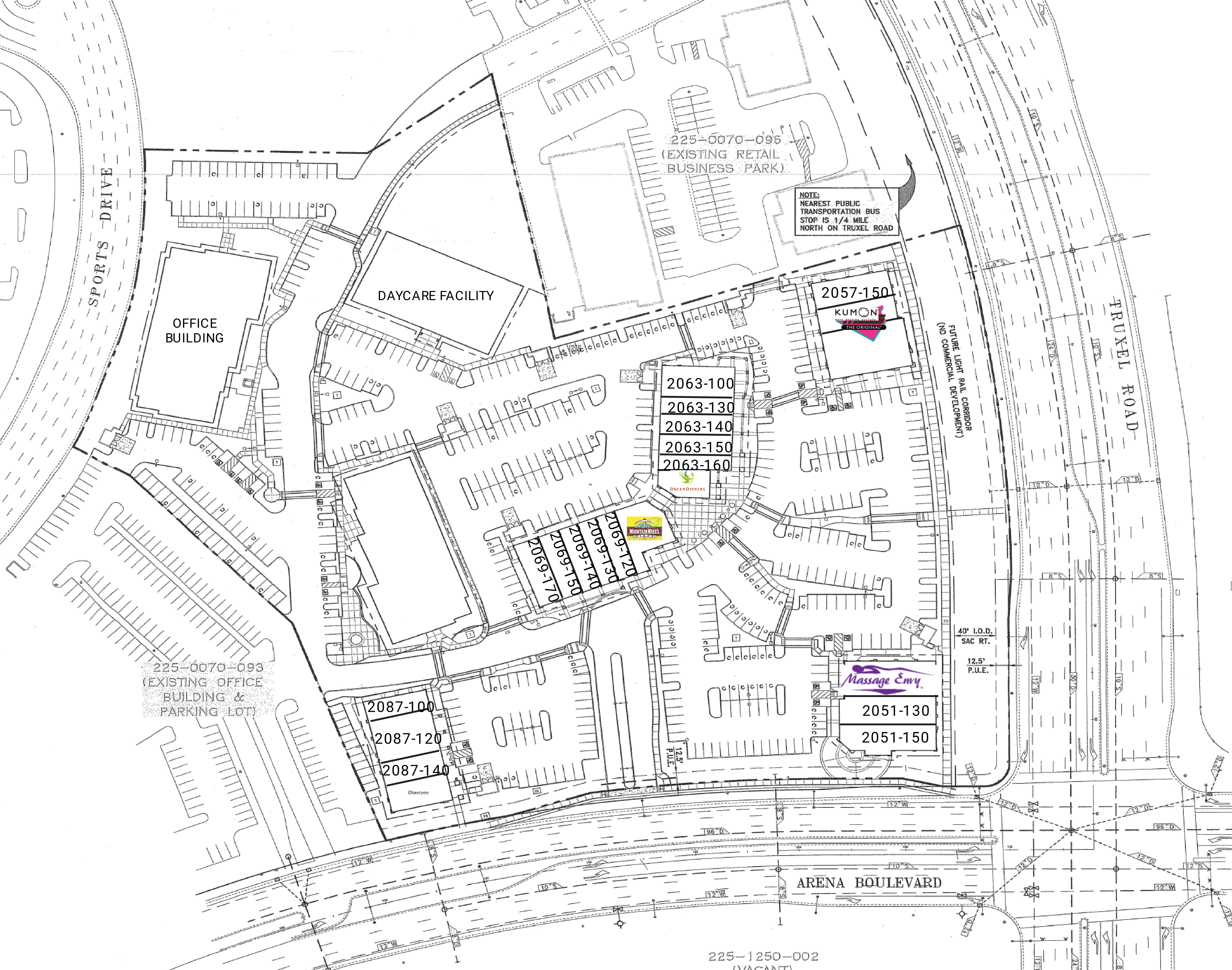 Truxel Station: site plan