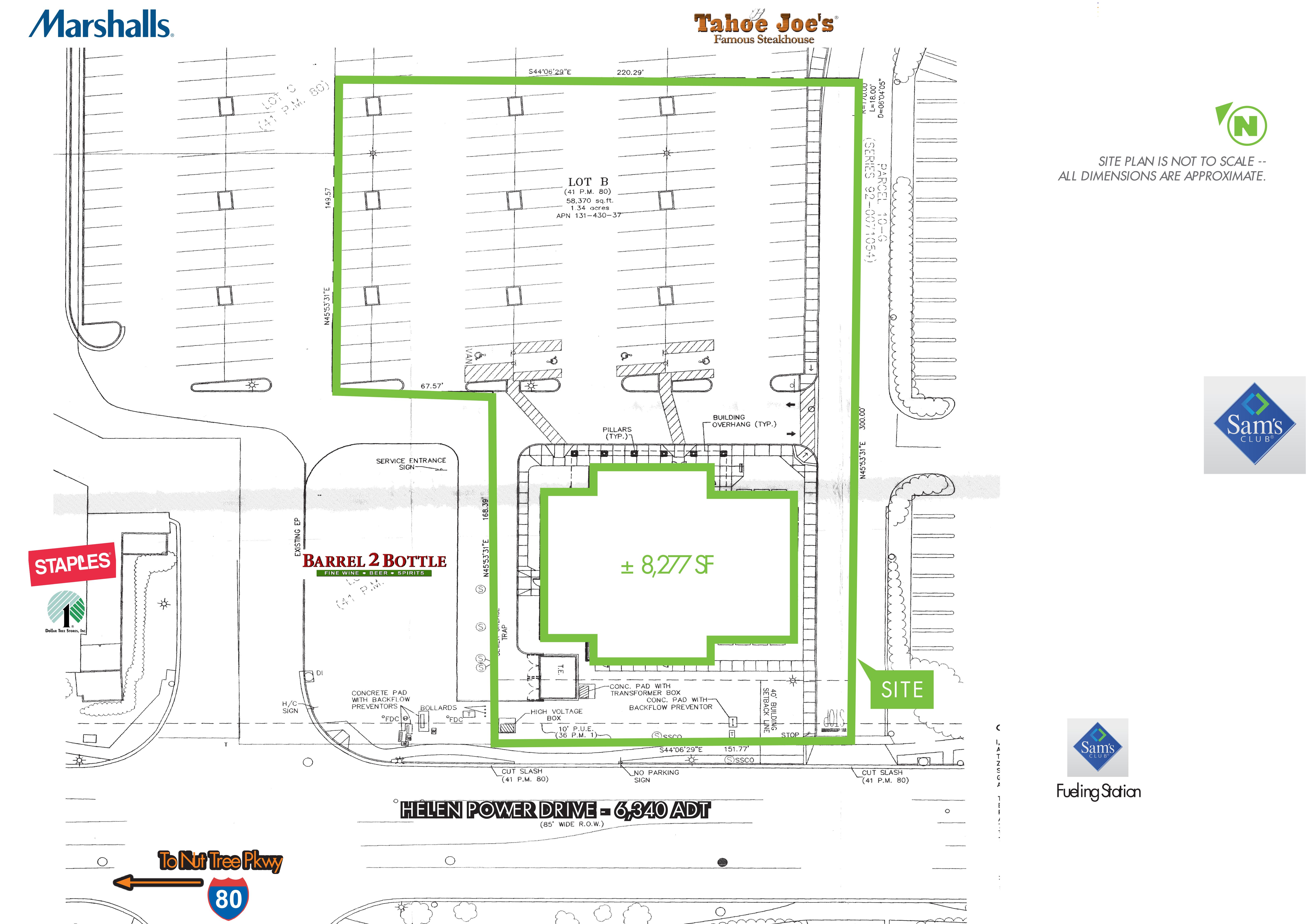 Former Home Town Buffet: site plan