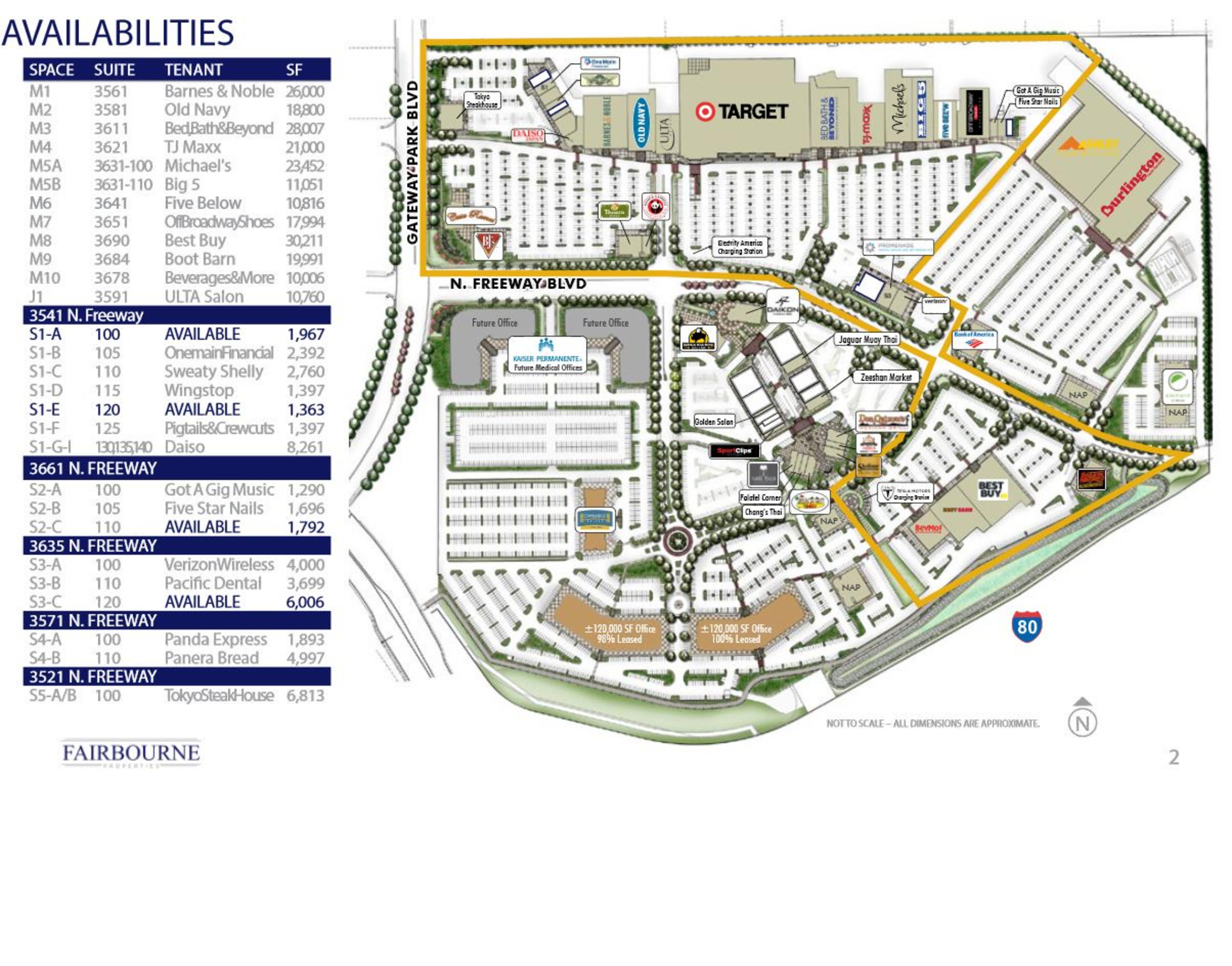 Promenade & Sacramento Gateway: site plan