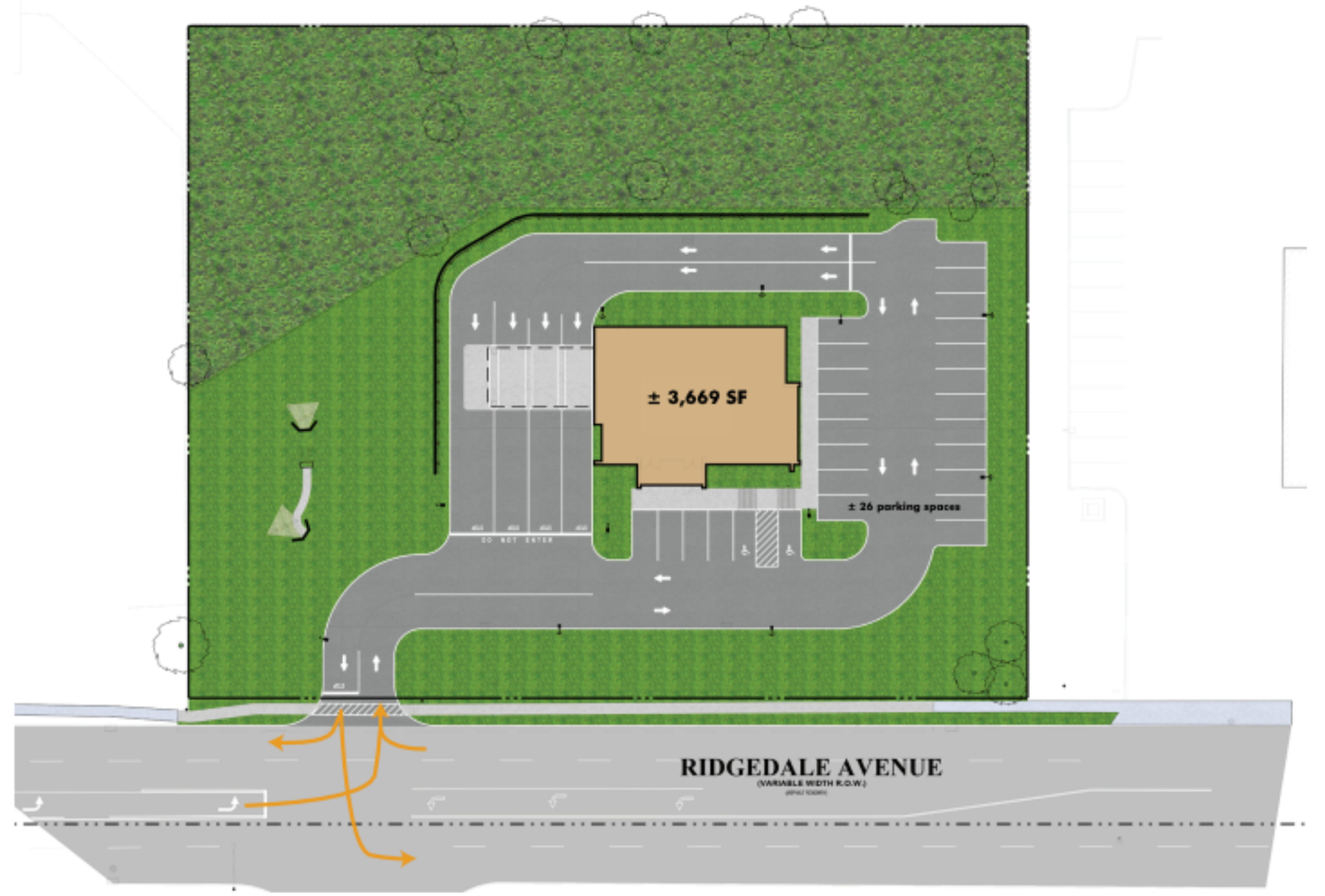 Former Bank - 224 Ridgedale Avenue: site plan