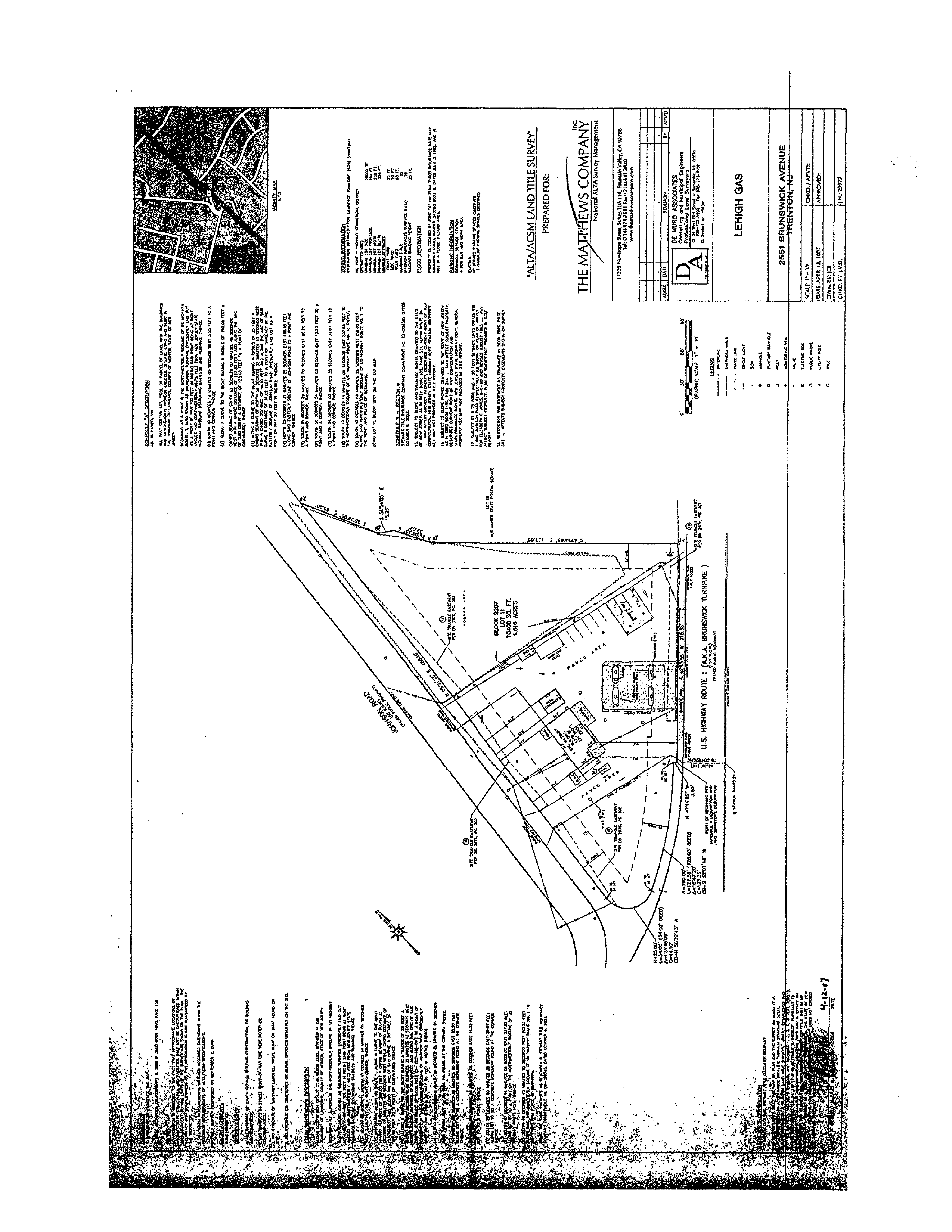 Former Getty -Lawrence Township: site plan