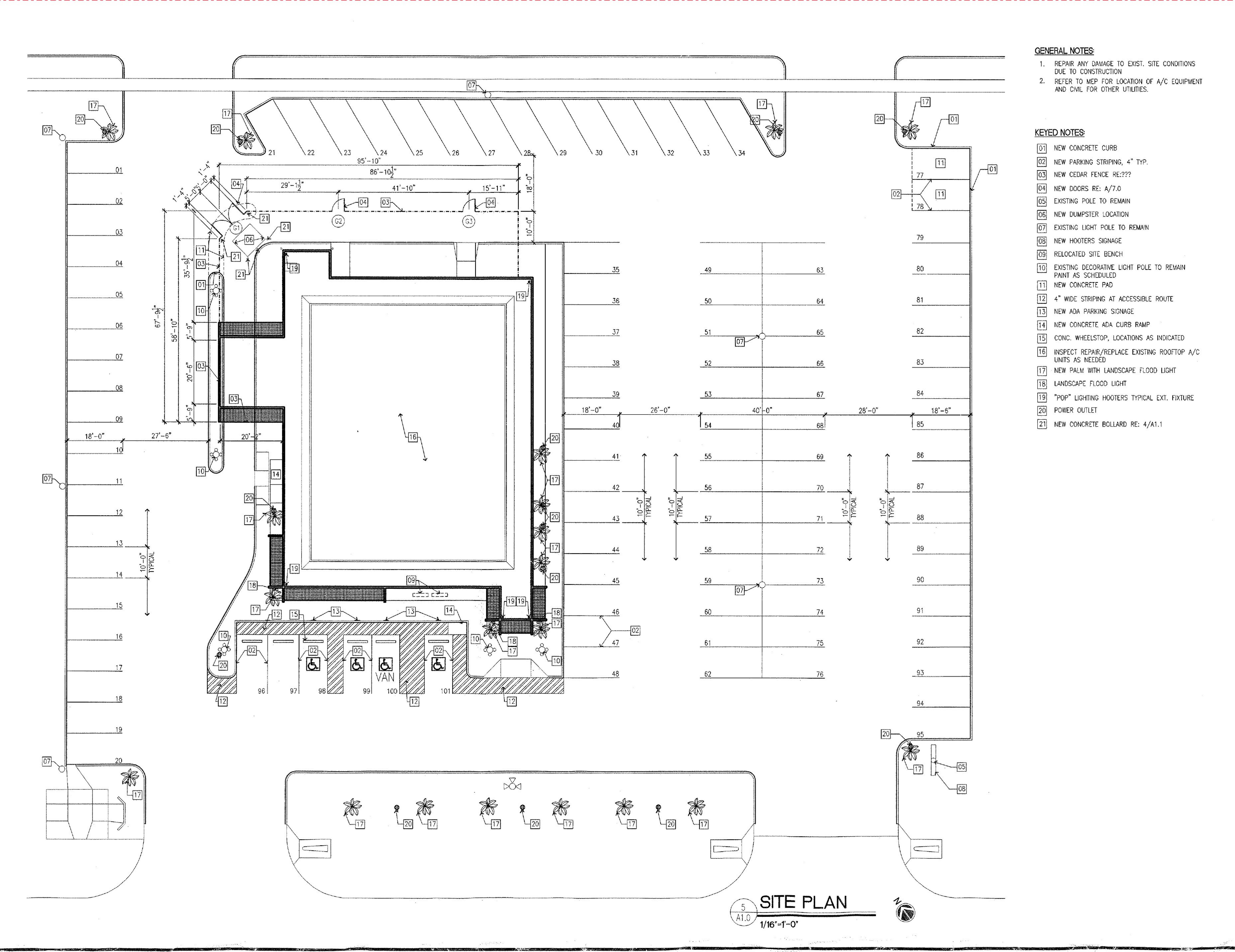 Freestanding Restaurant Bldg: site plan