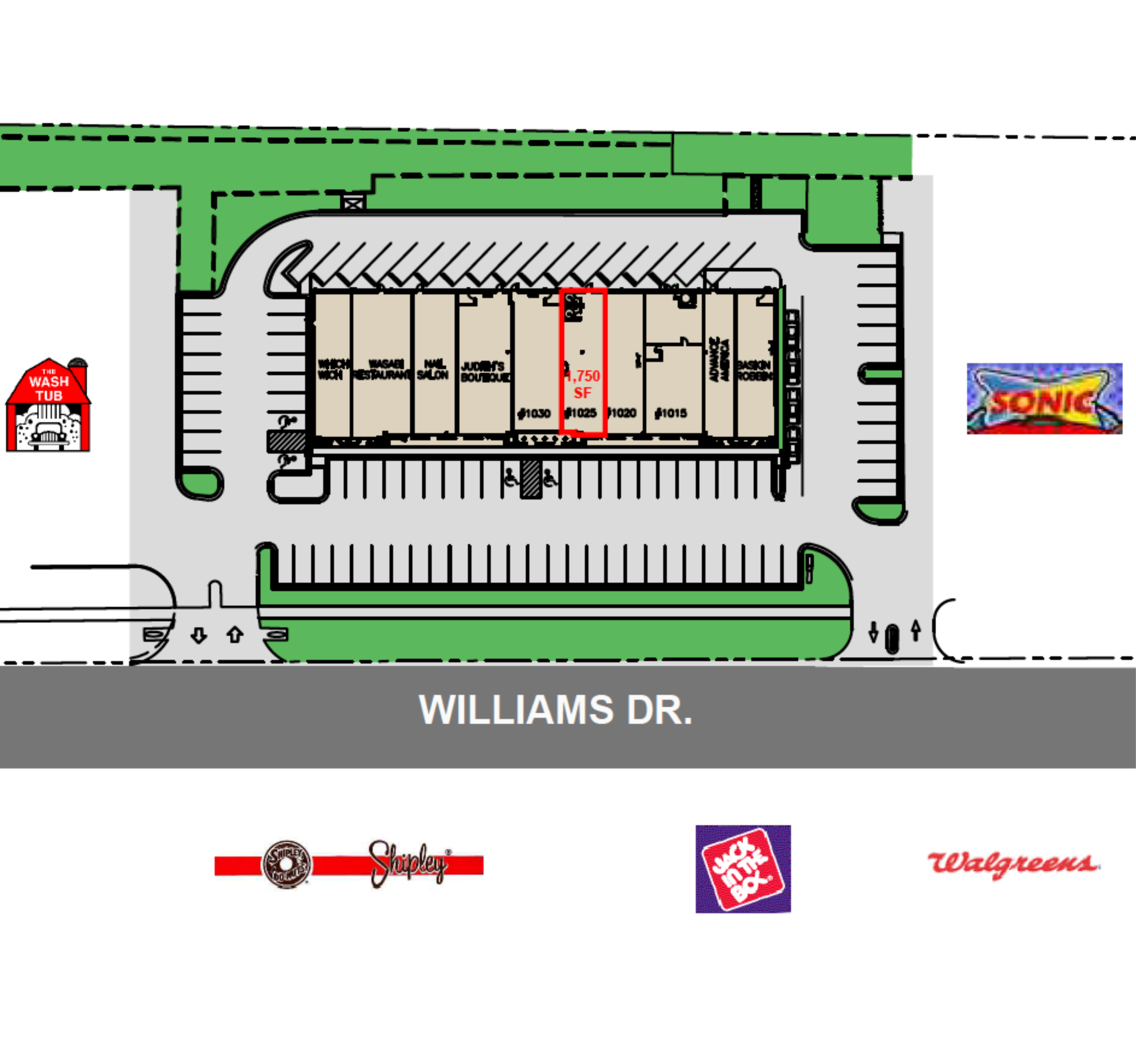 Booty's Crossing Center: site plan