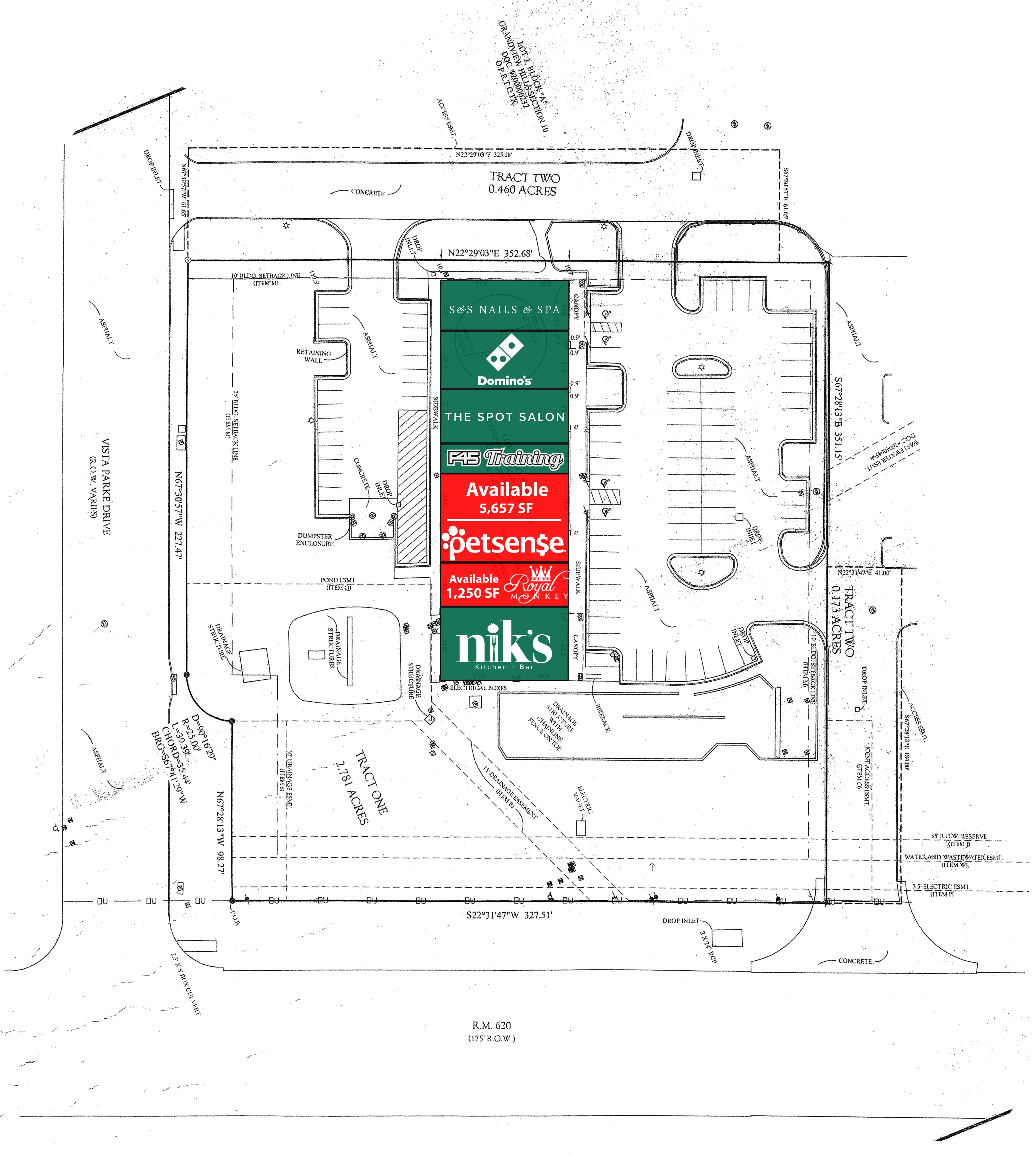 Grandview Shopping Center: site plan
