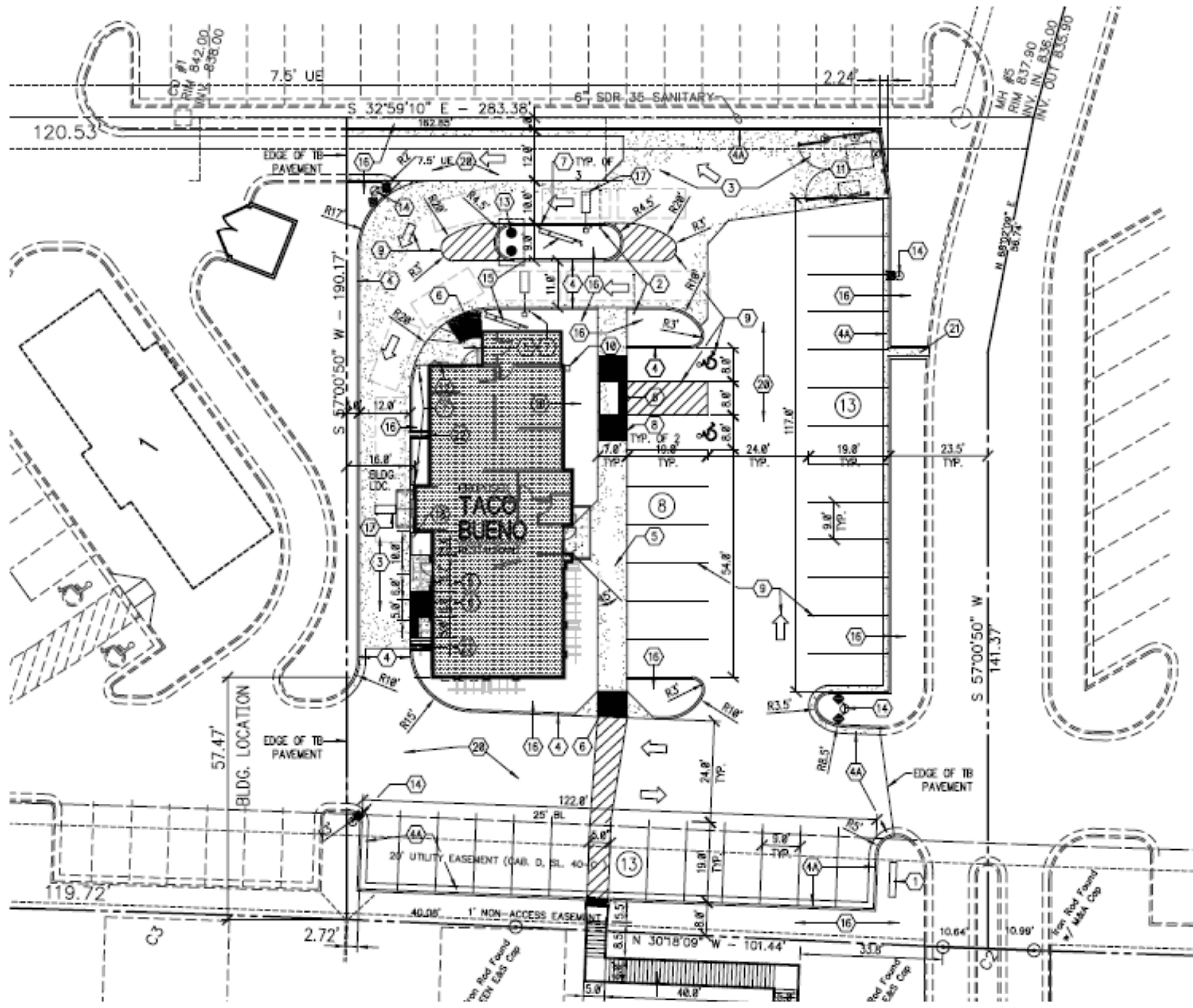 Harker Heights QSR Bldg: site plan