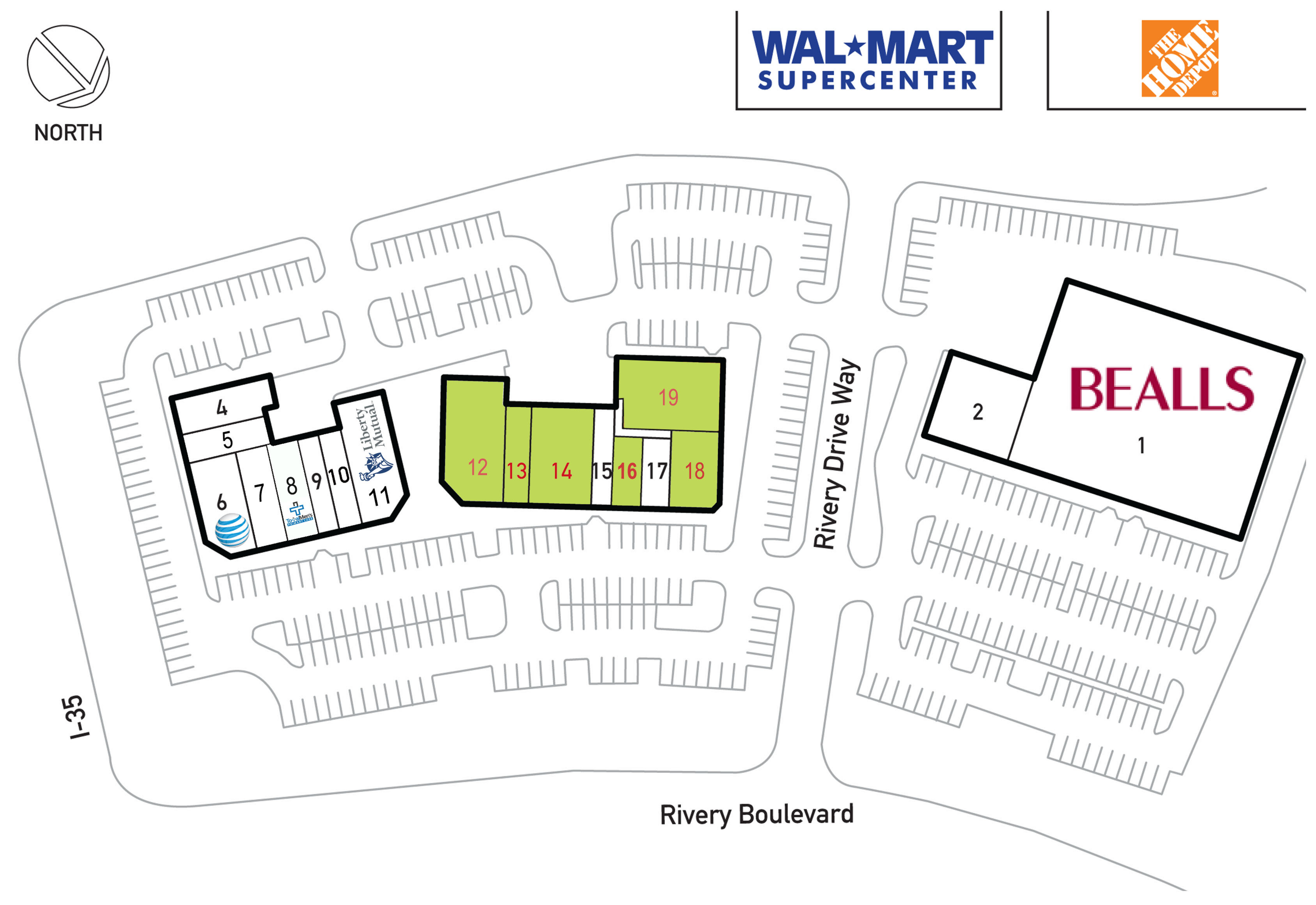 Rivery Towne Crossing: site plan
