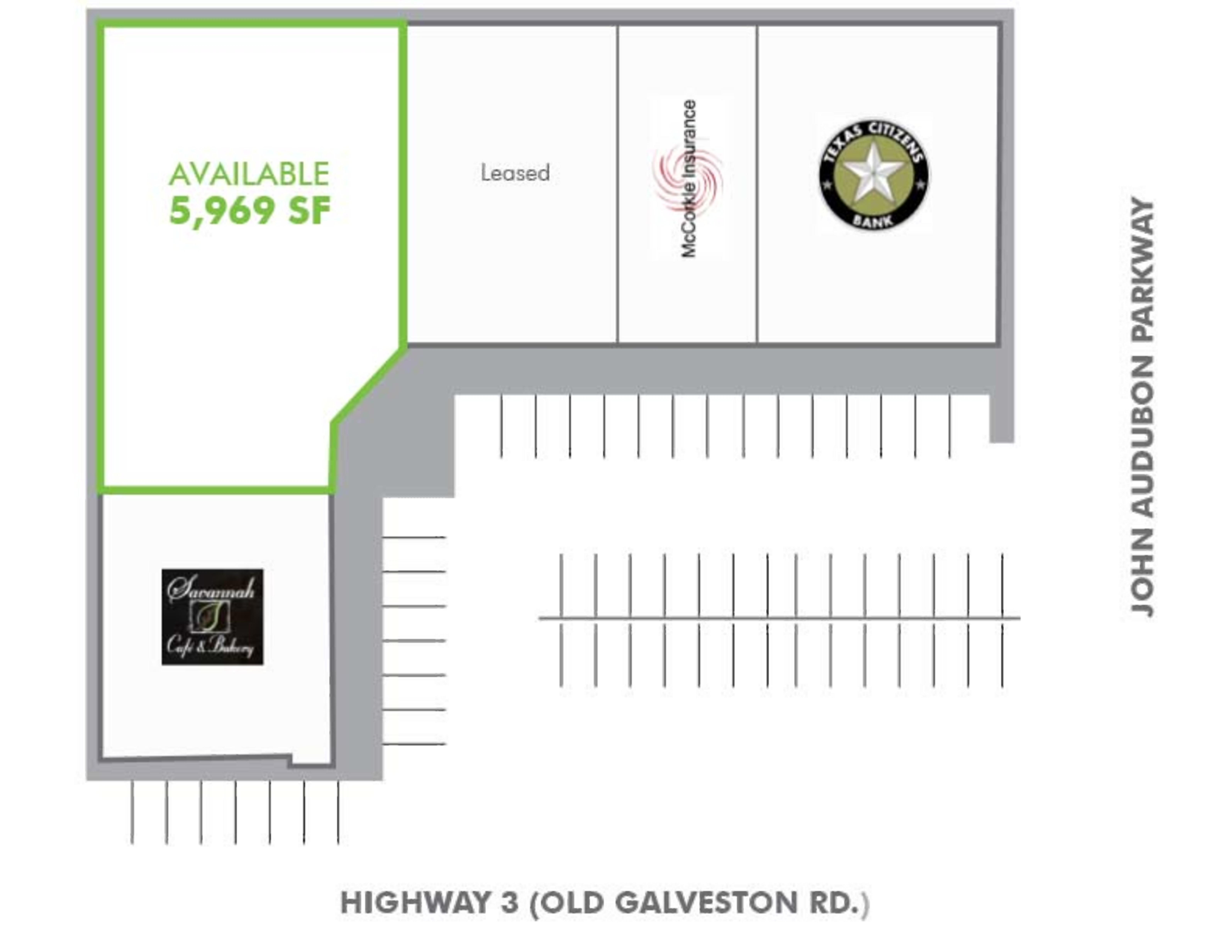 Clear Lake Retail Center: site plan