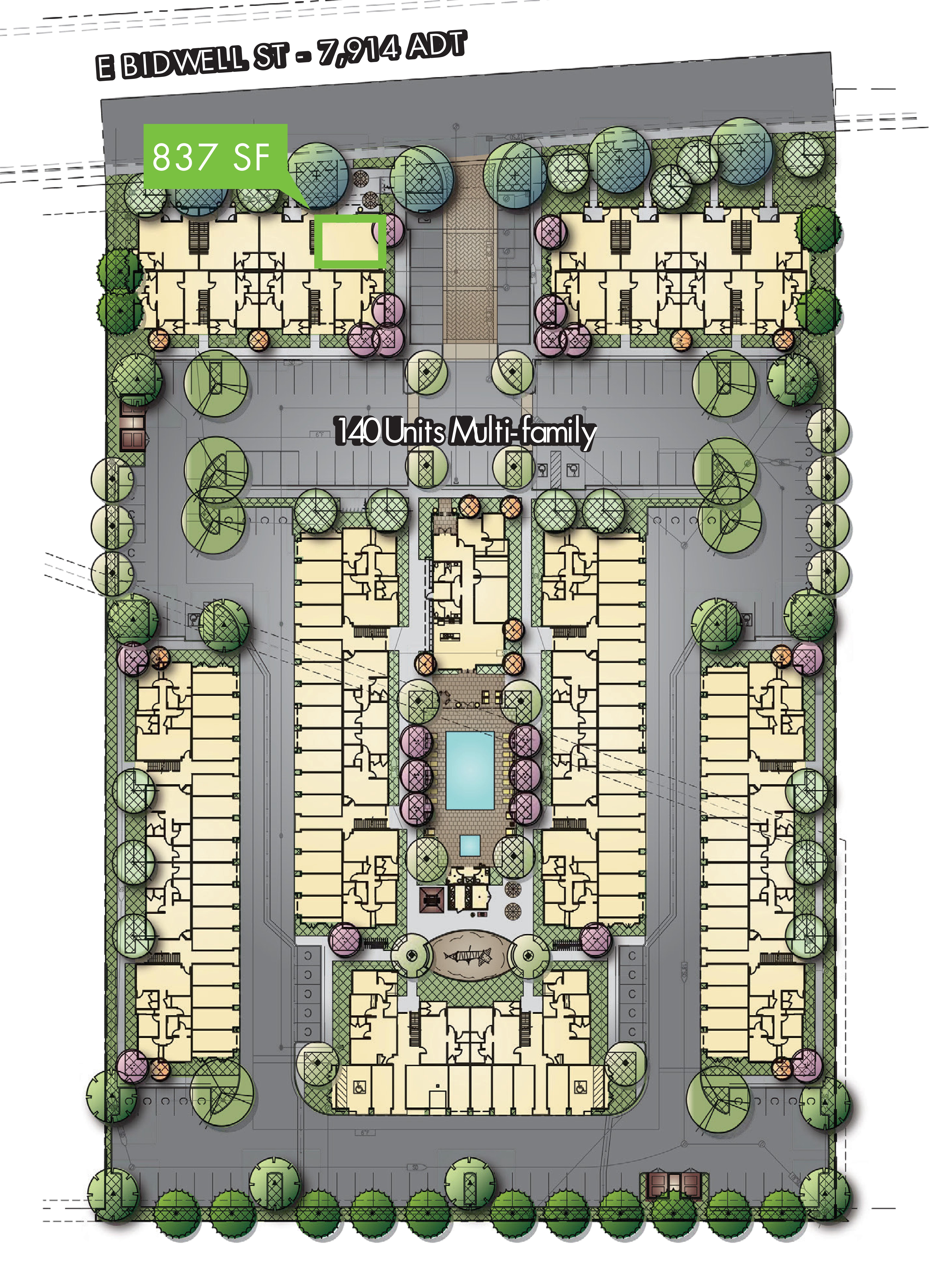 Bidwell Pointe: site plan