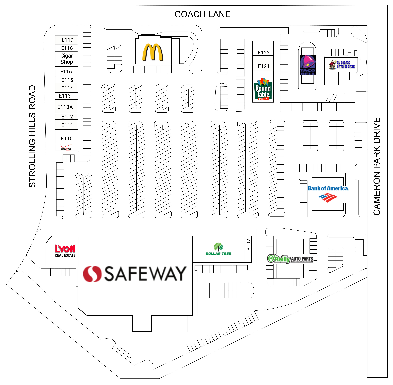 Cameron Park Place: site plan