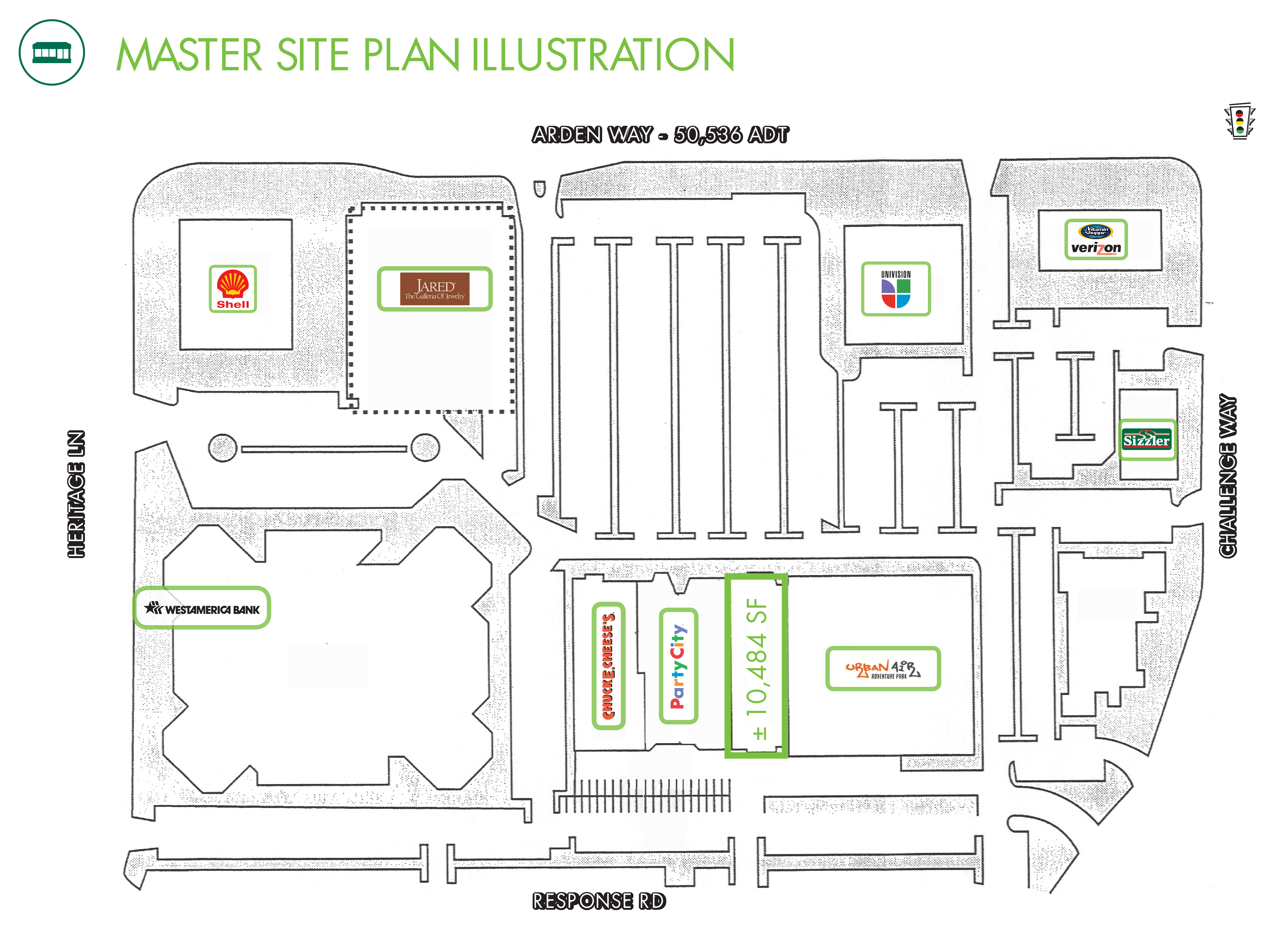 Tower Plaza: site plan