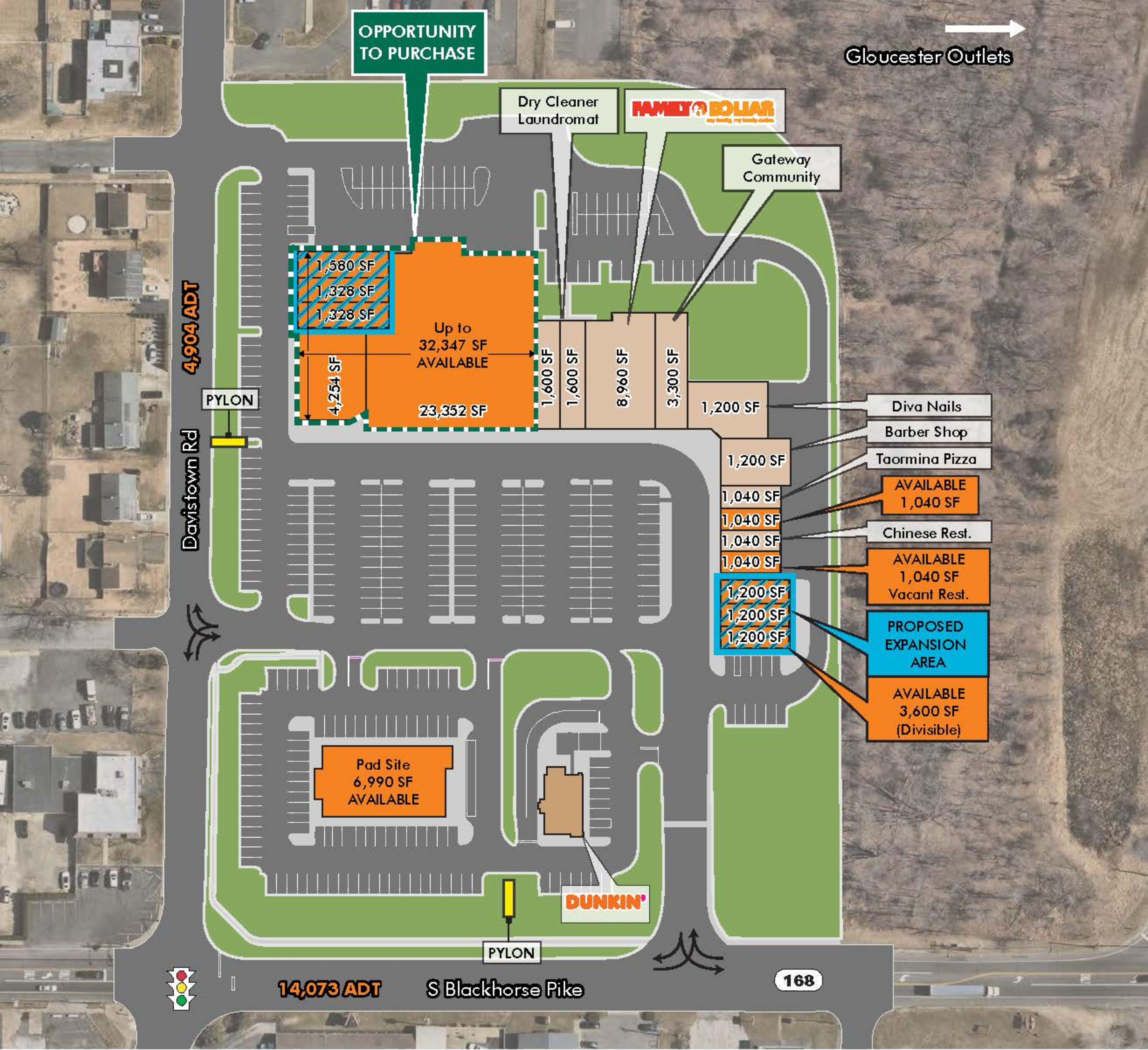 The Shoppes at Gloucester Township: site plan