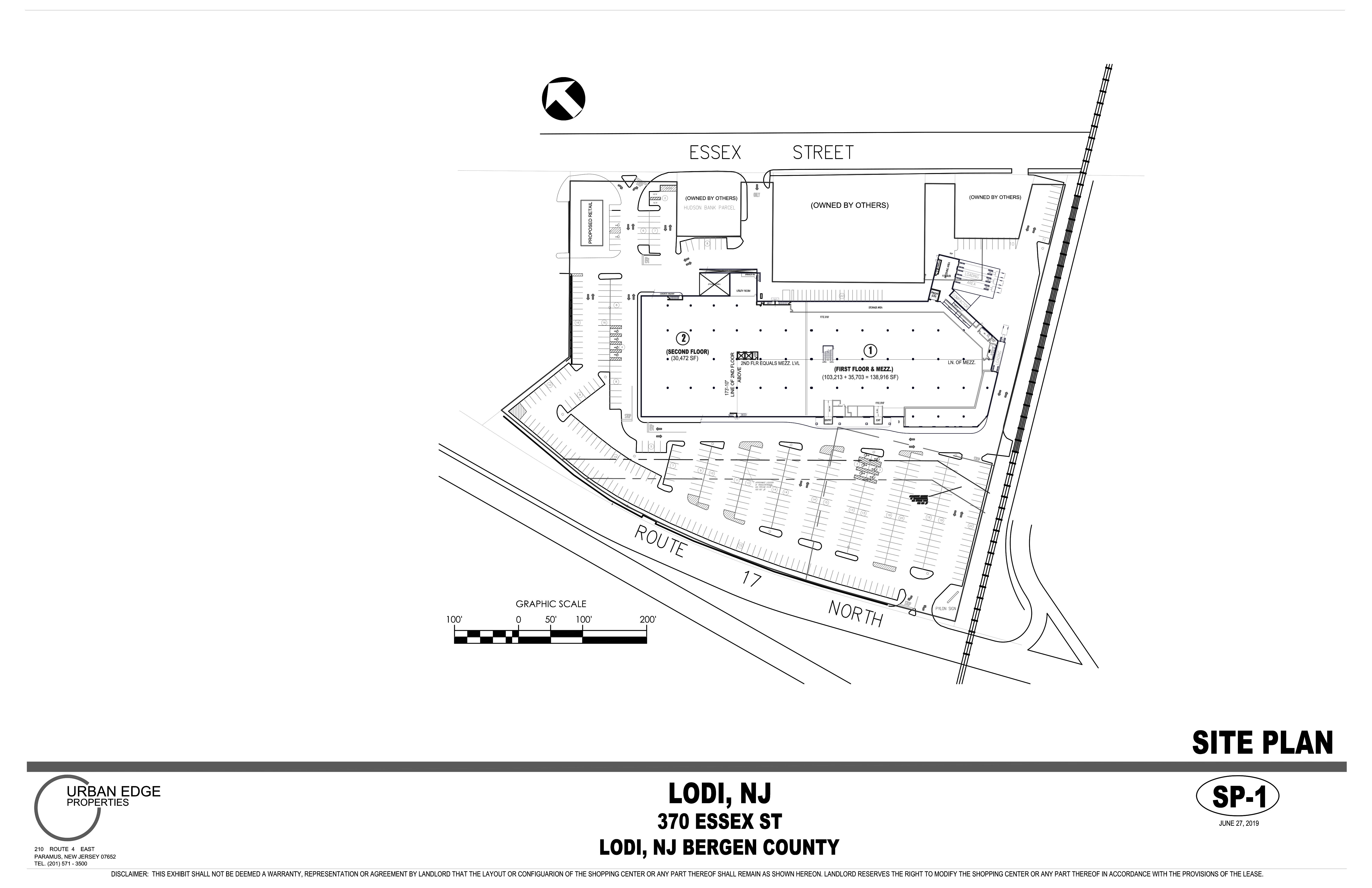1 State Route 17 North: site plan