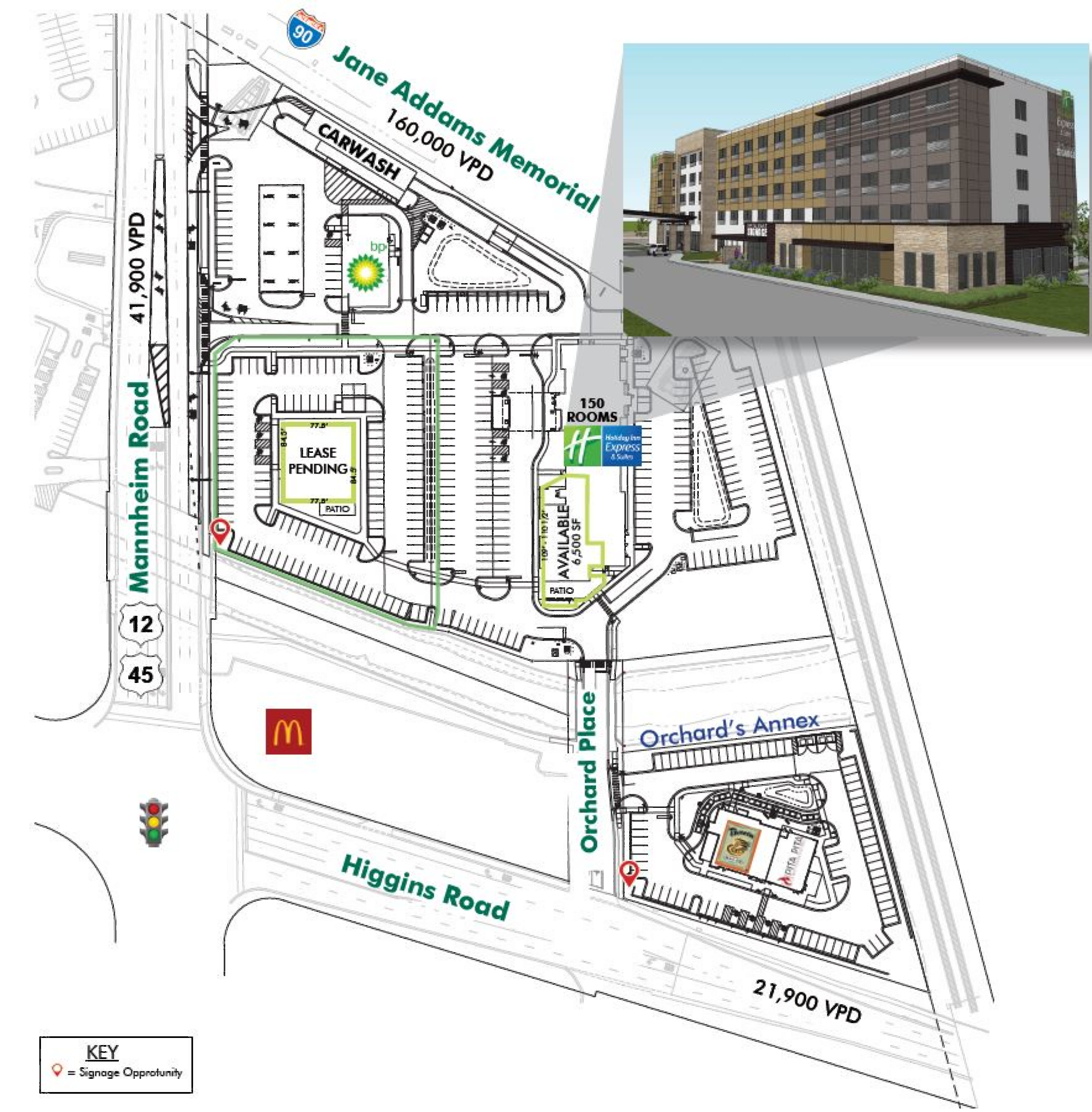 Orchards at O'Hare: site plan