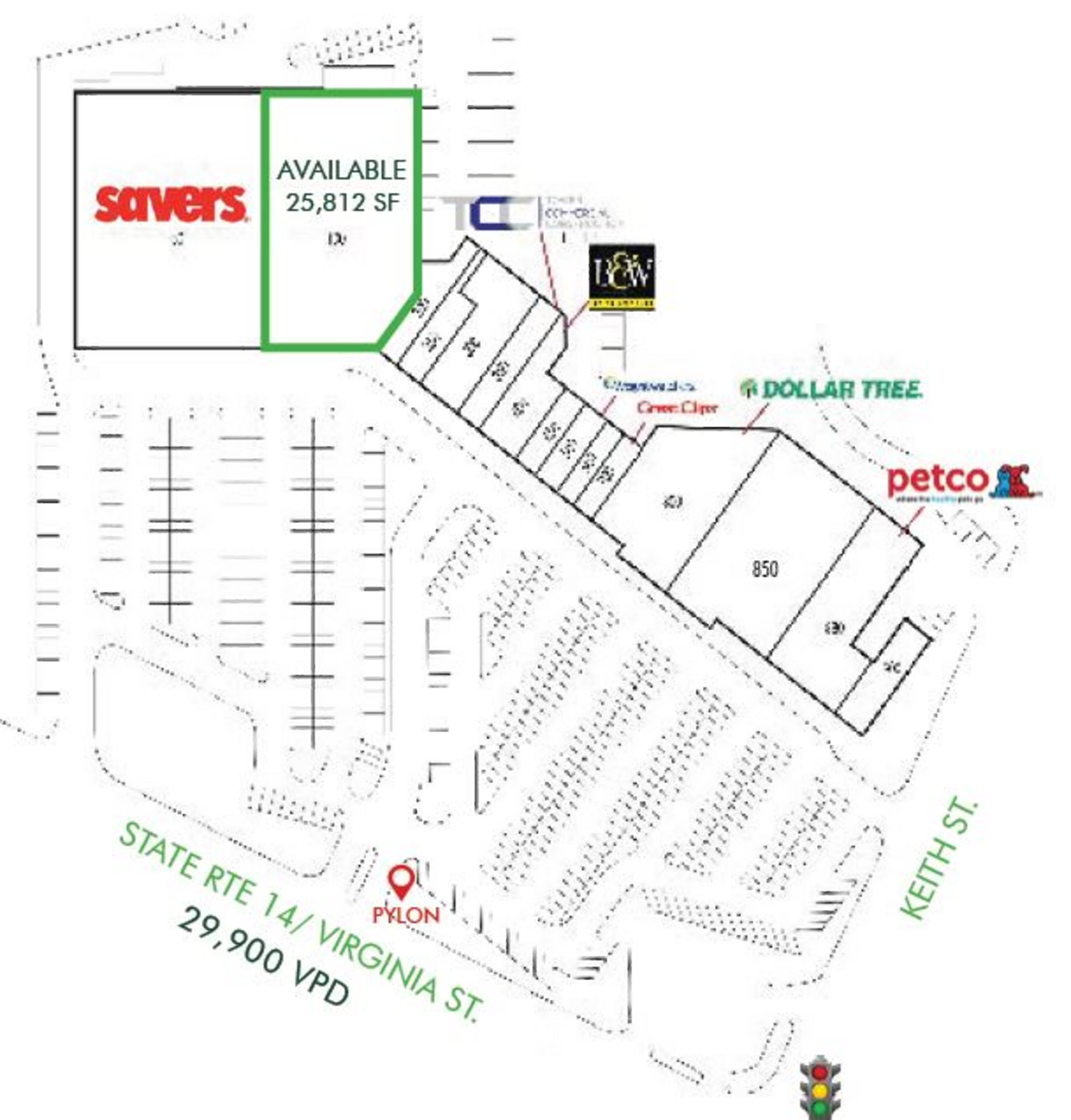 Country Corners: site plan