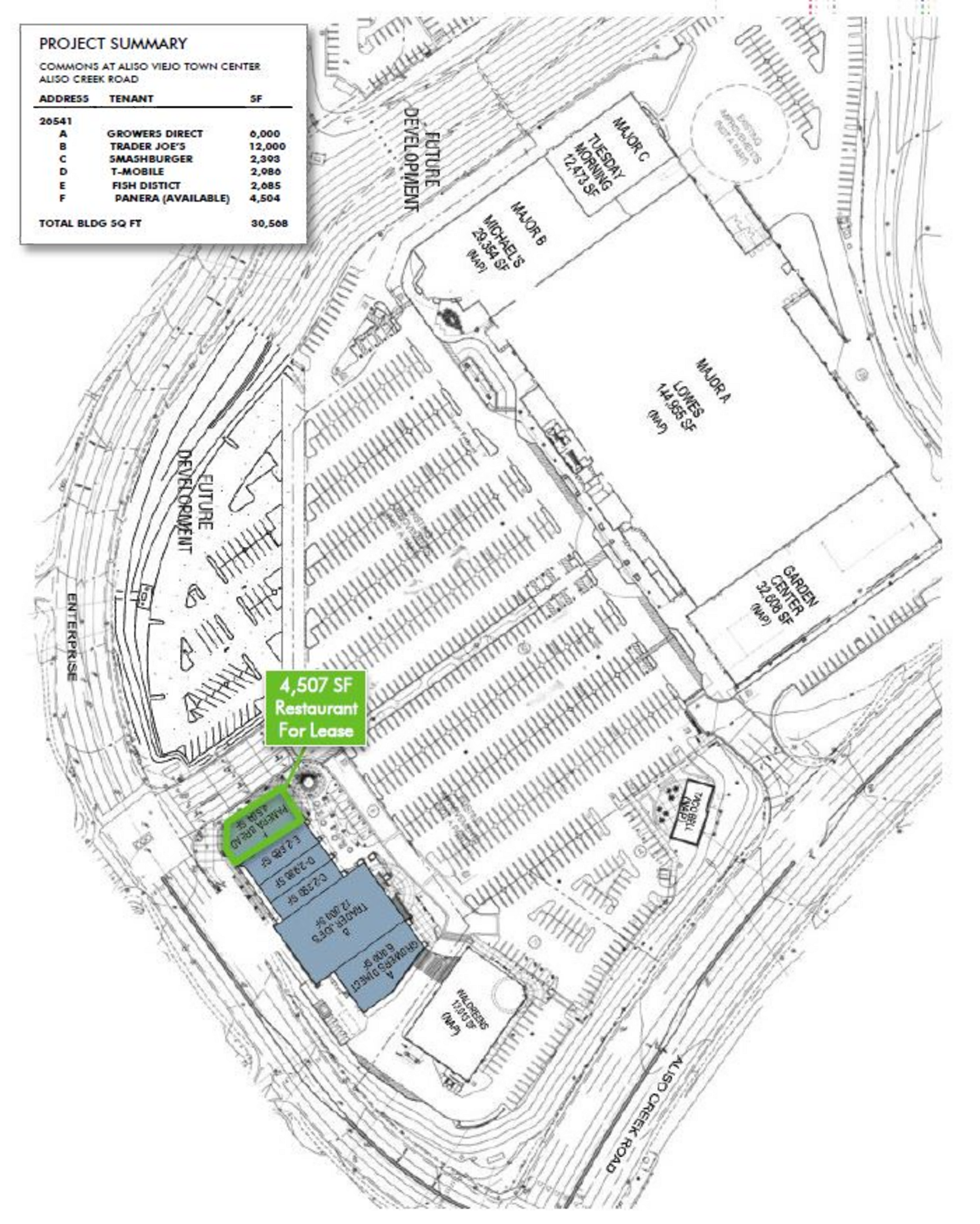 The Commons at Aliso Viejo: site plan