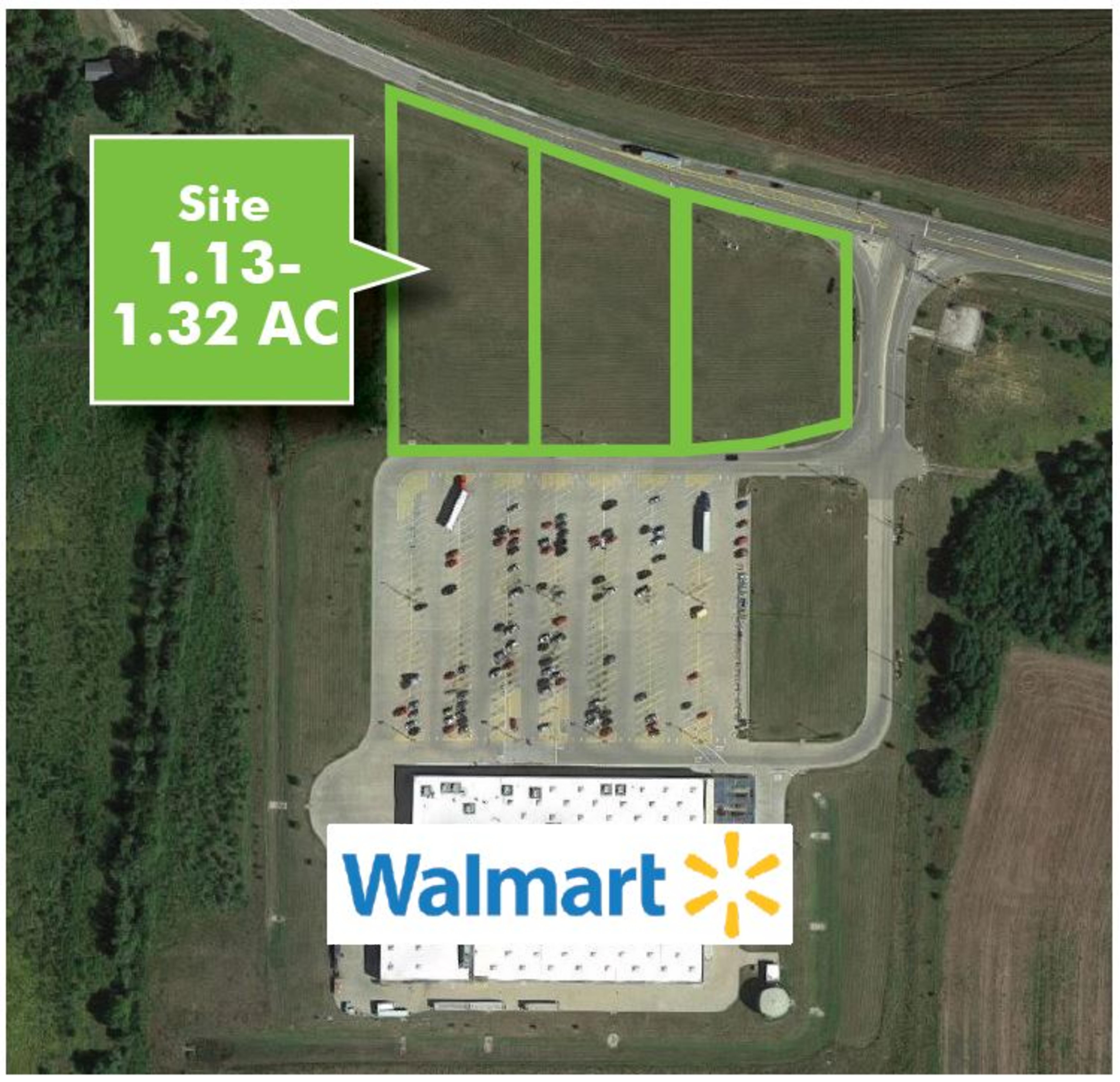 Walmart Outlot Beardstown: site plan