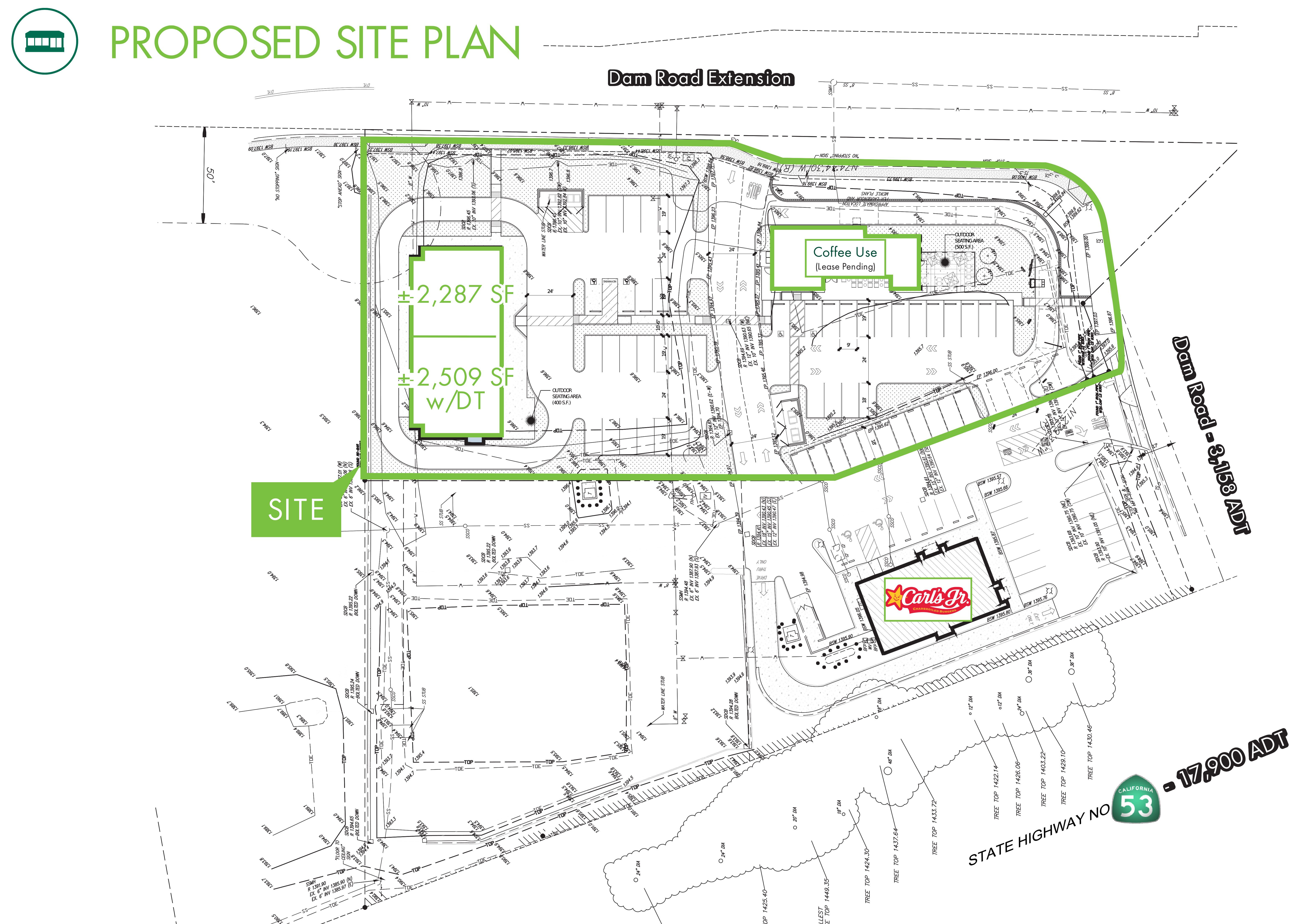 Retail / Highway Commercial Land - Clearlake: site plan