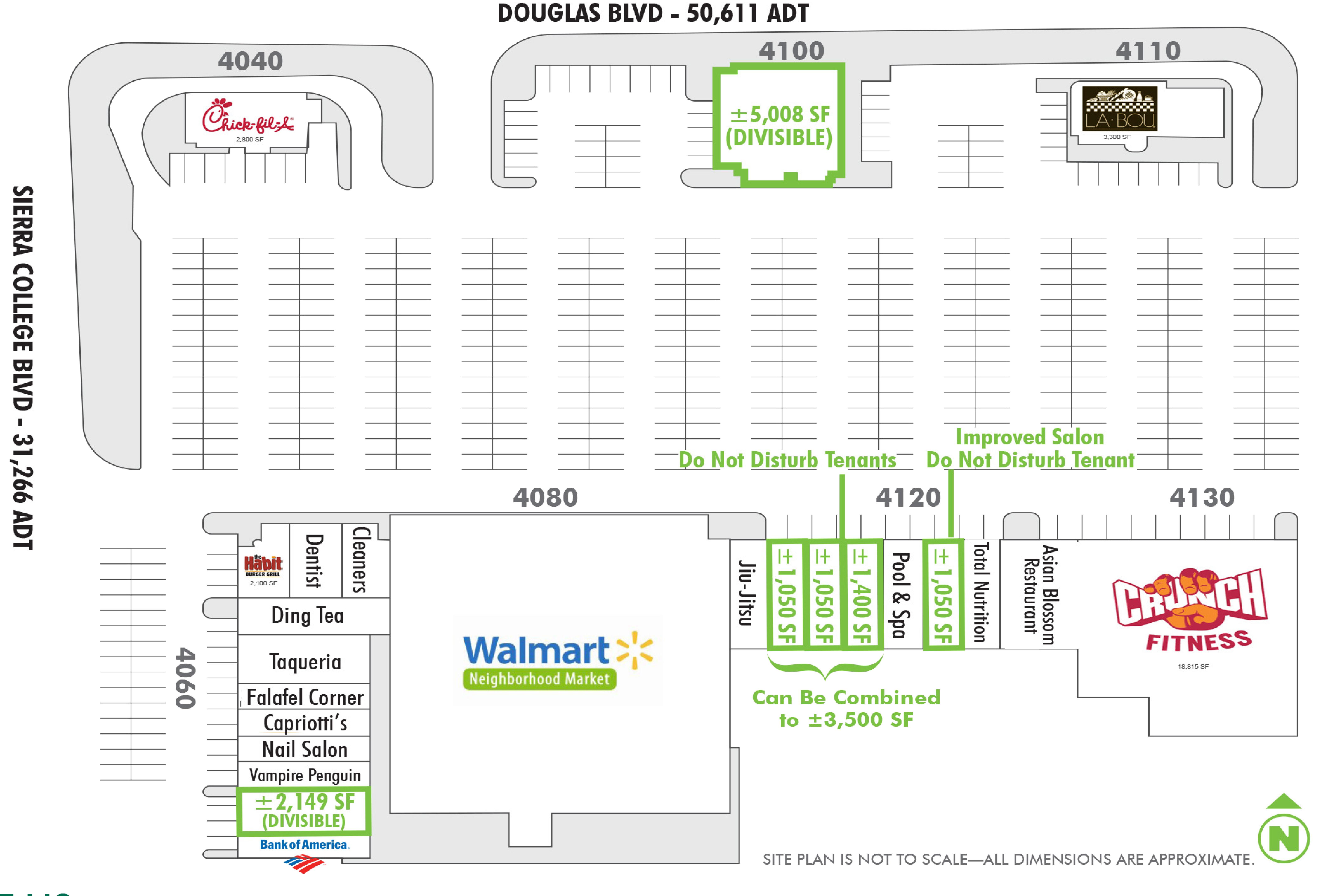 Sierra Oaks Plaza: site plan