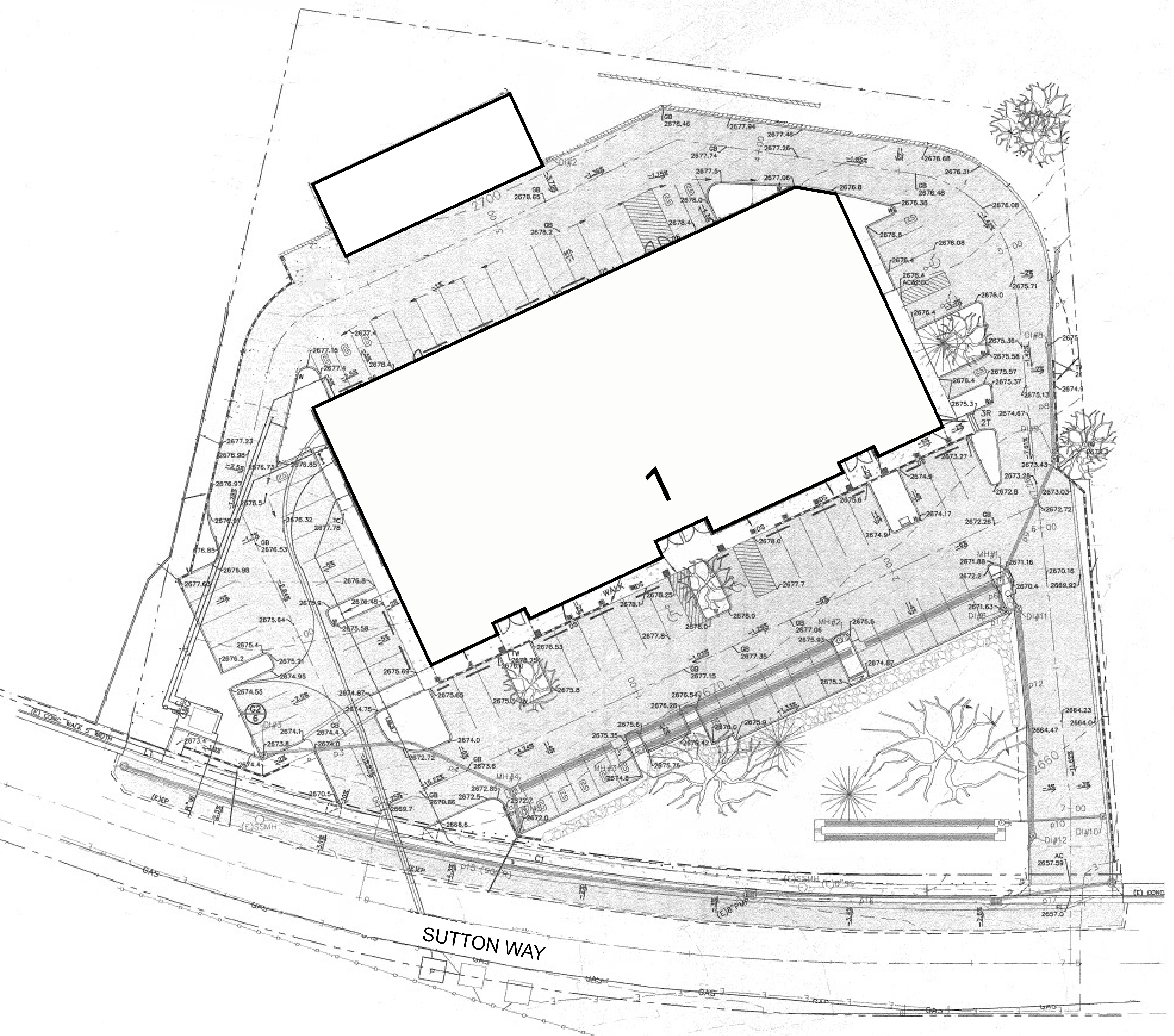 Grass Valley Retail Building: site plan