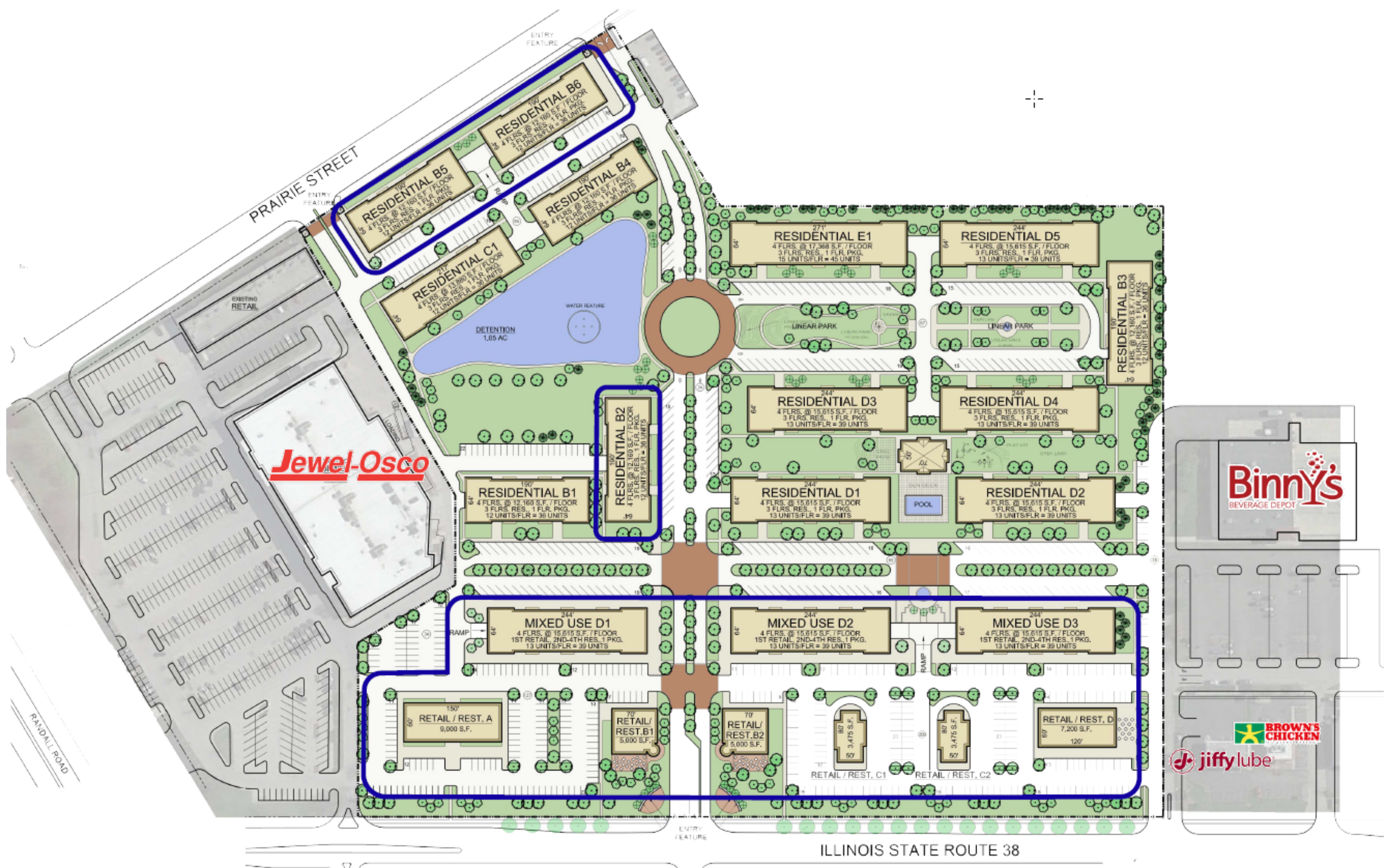 Prairie Centre: site plan