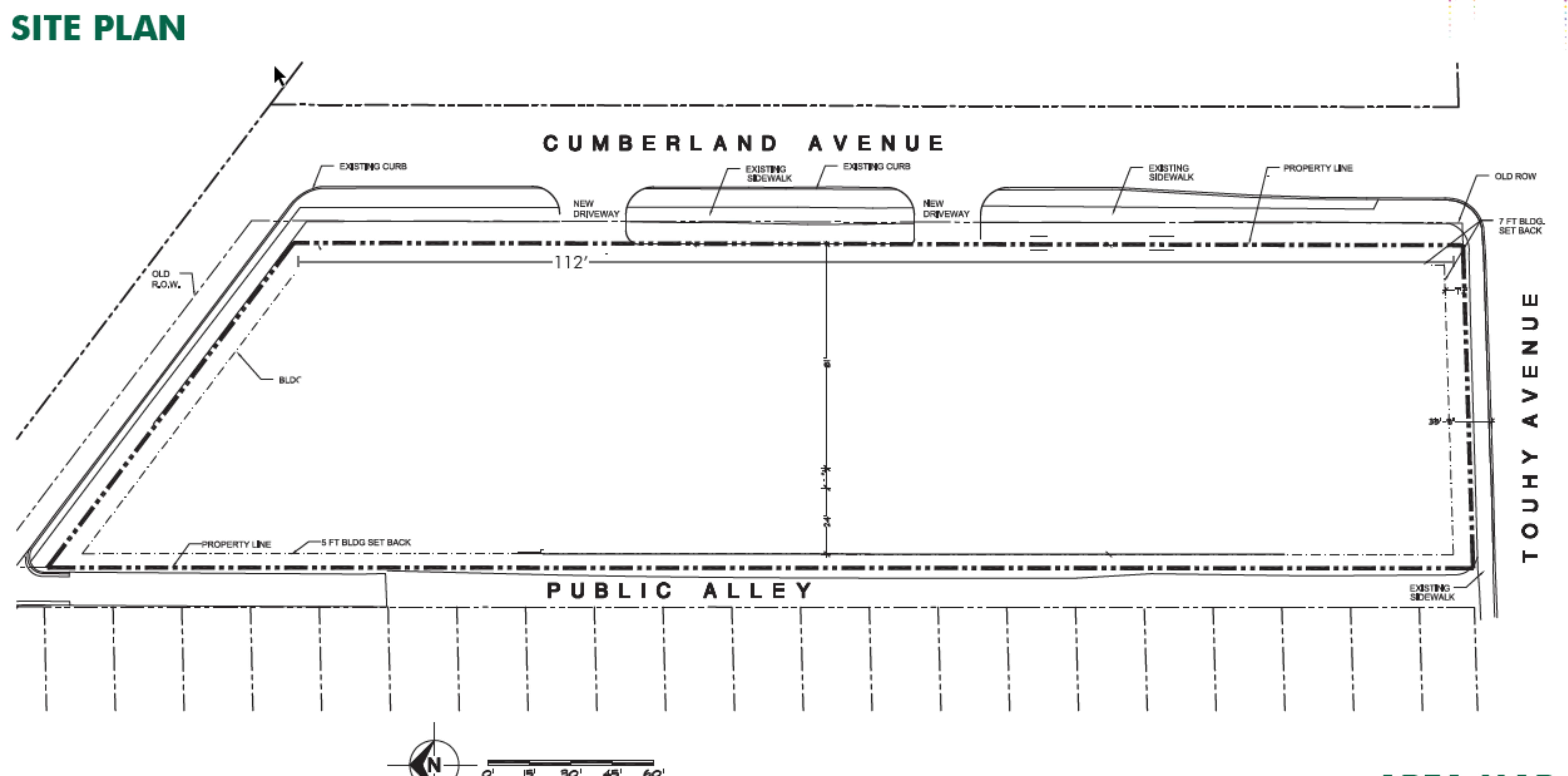 10 N. Cumberland Ave.: site plan