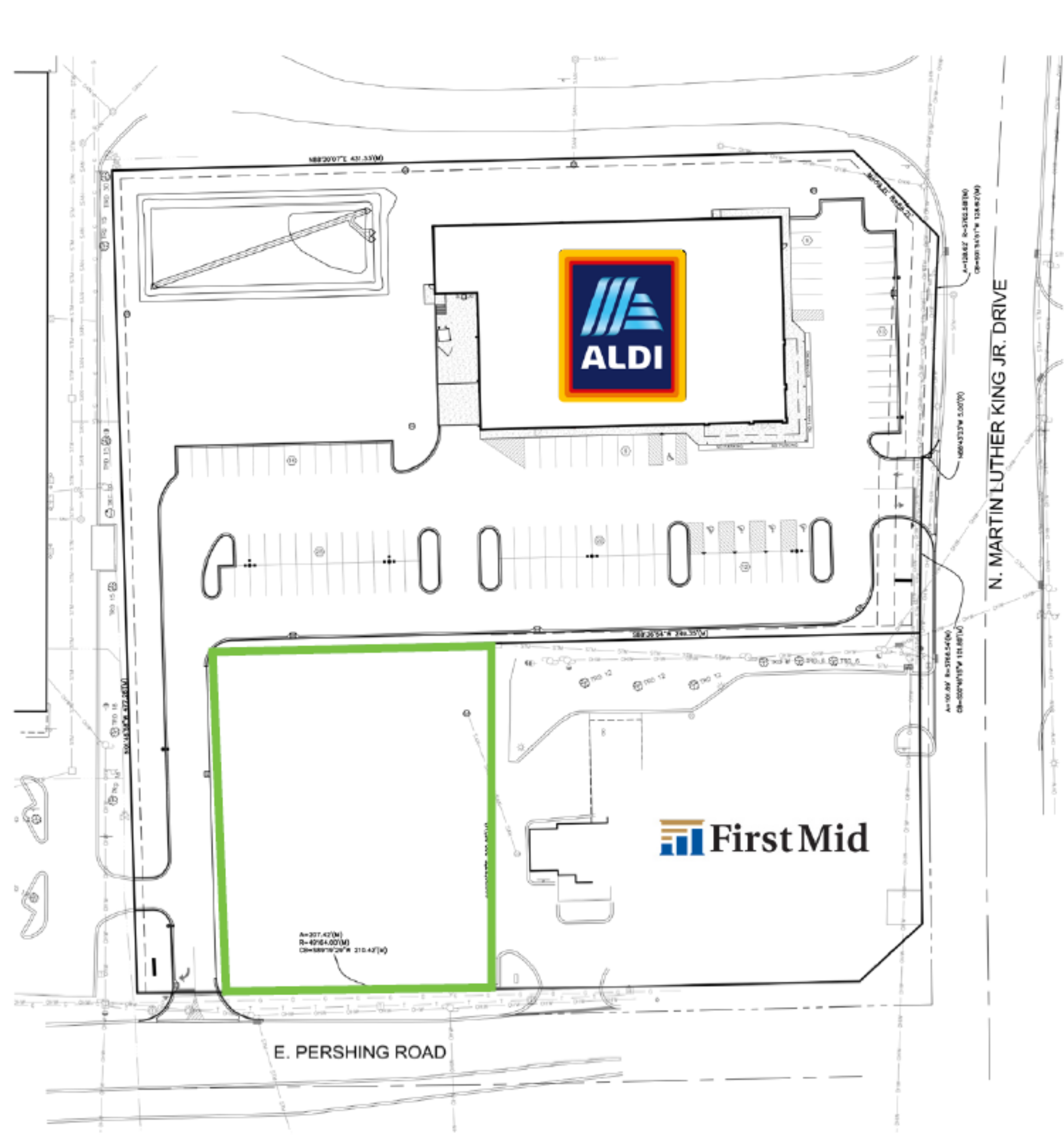 0.73 Acre Lot: site plan