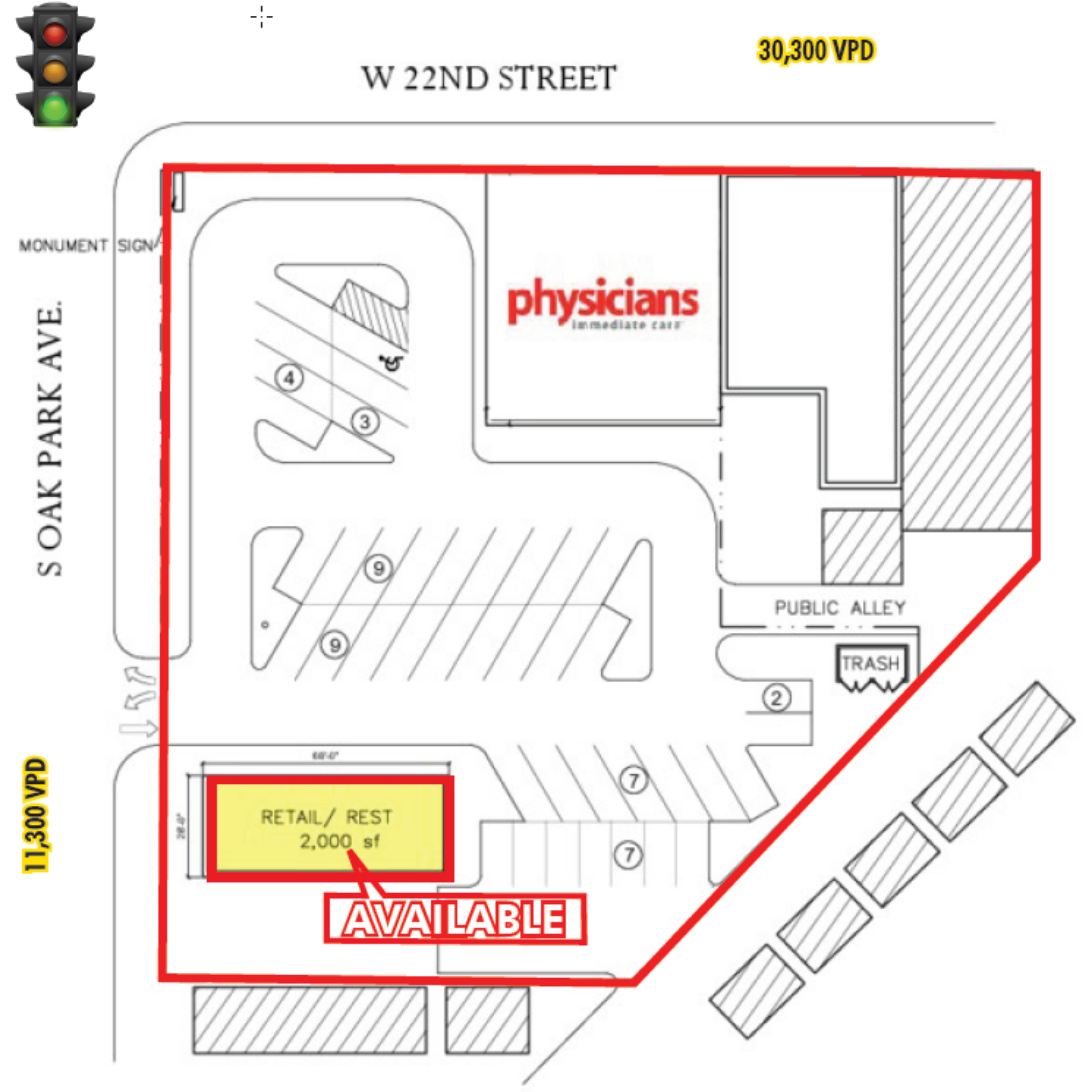 2215 S. Oak Park Avenue: site plan