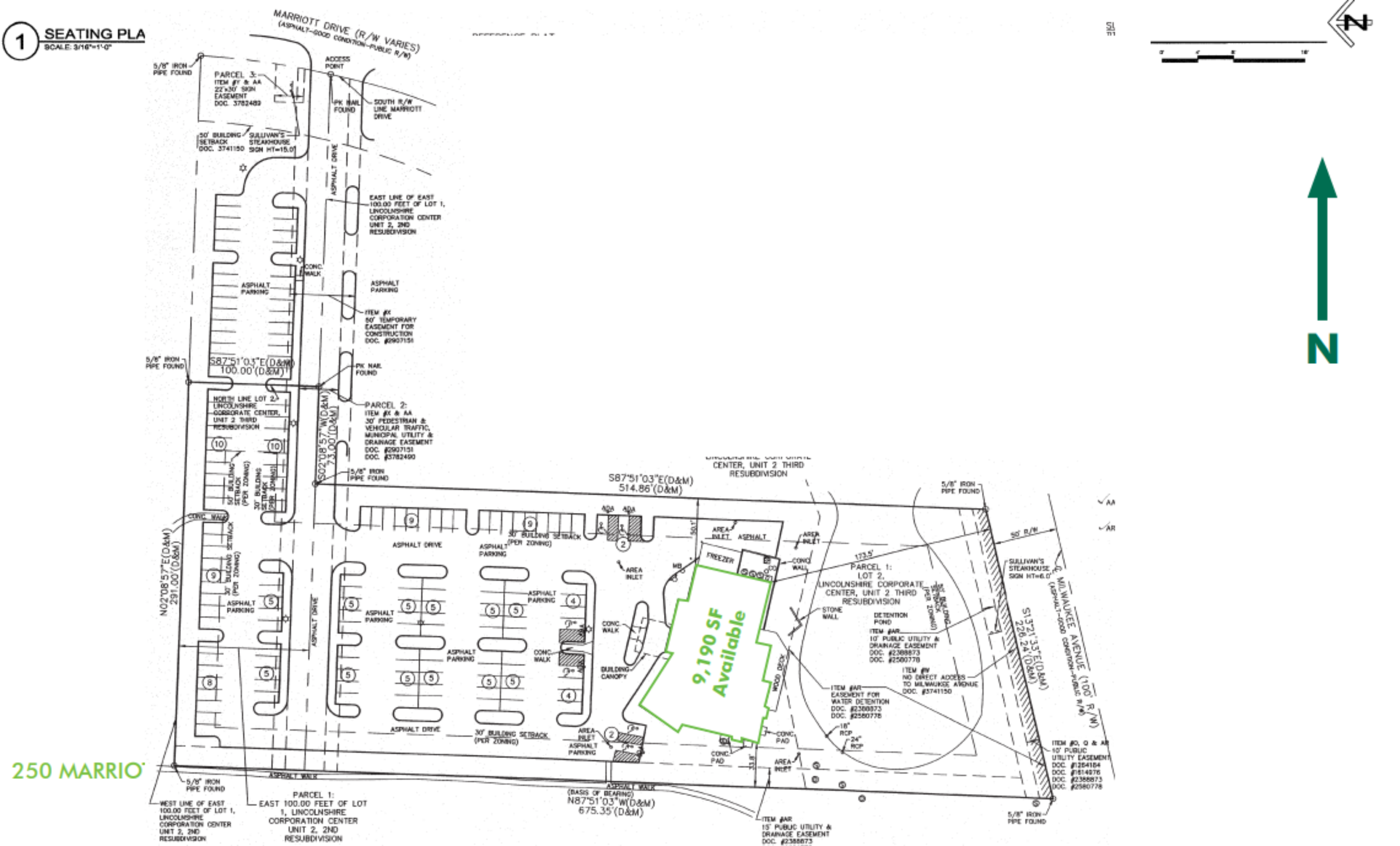 9,190 SF Restaurant Available on 3.39 Acres: site plan
