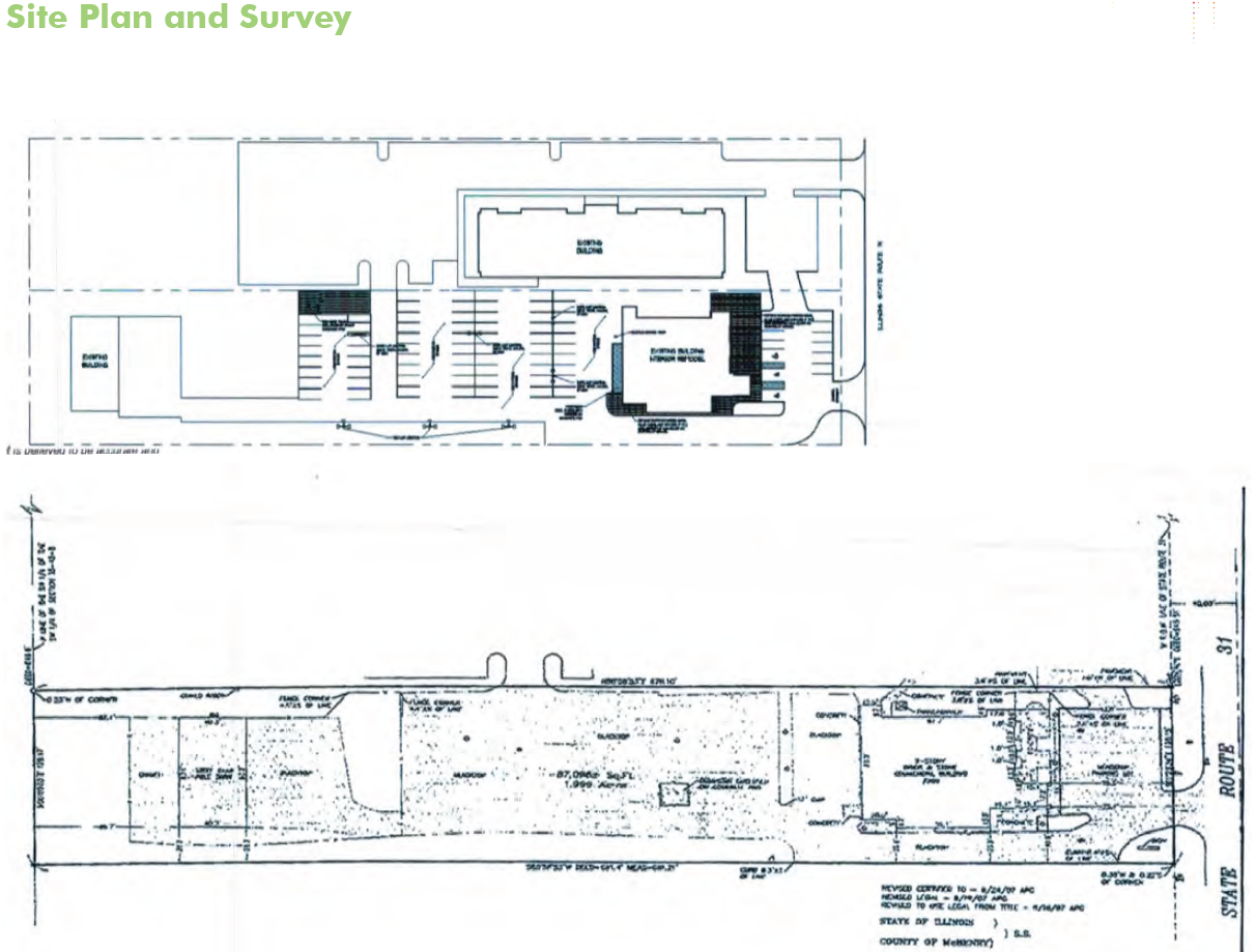 Former Restaurant Available - McHenry: site plan